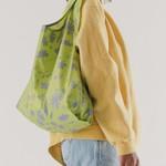 Baggu Baggu Reusable Bag Standard Floral Sun Print-Lime