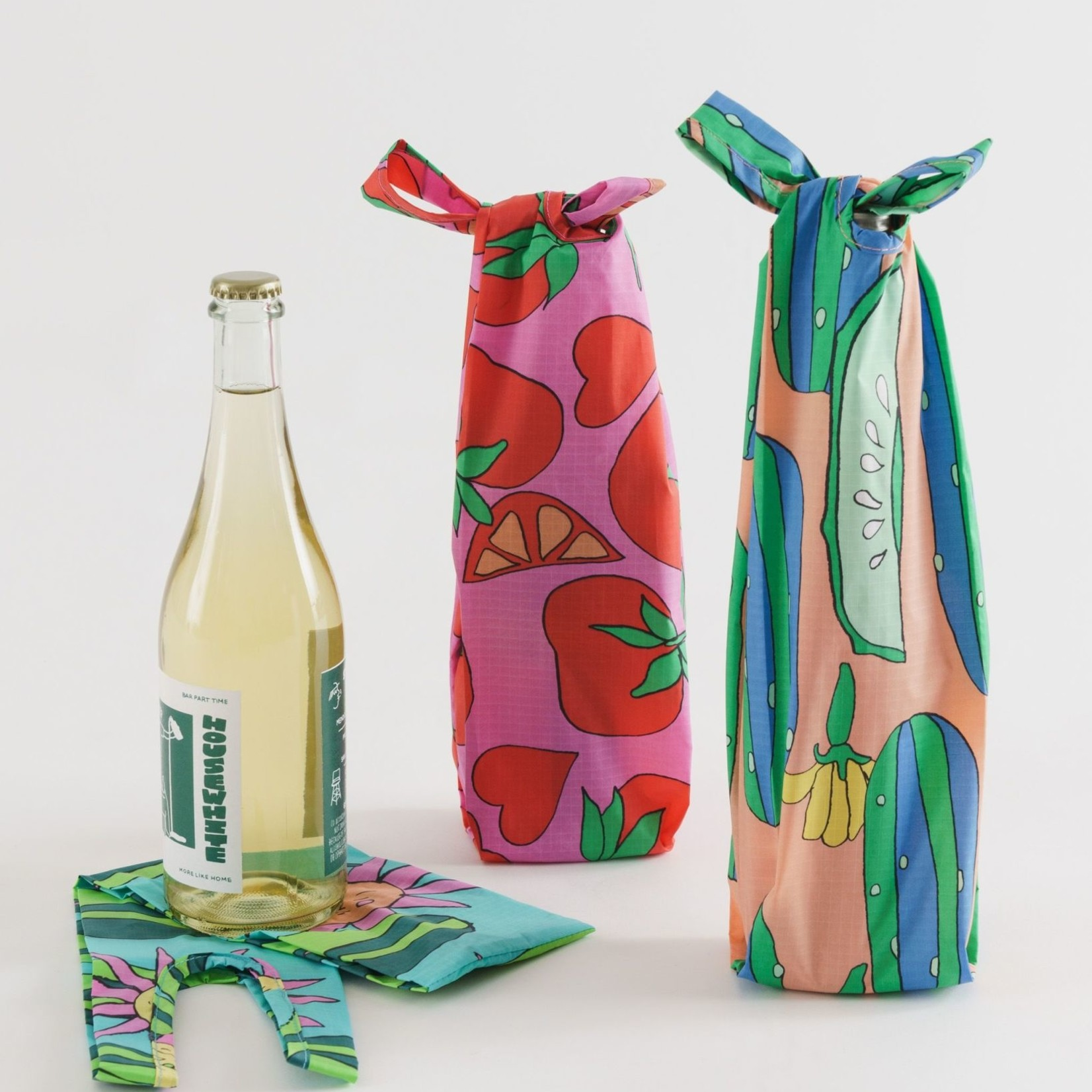 Baggu Baggu Reusable Wine Set of 3 Summer Veggies