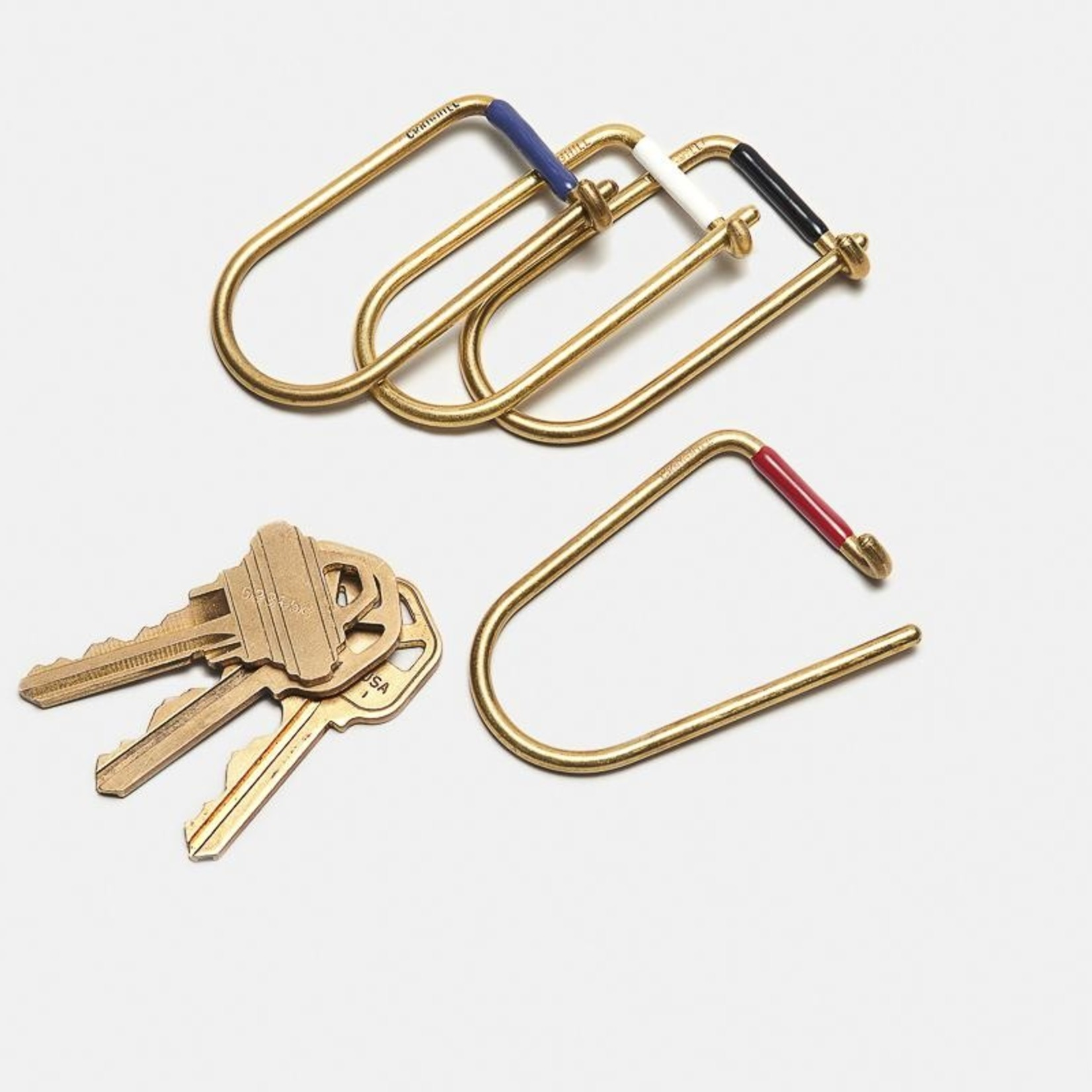 Craighill Craighill Keyring Wilson Brass Enameled  Red