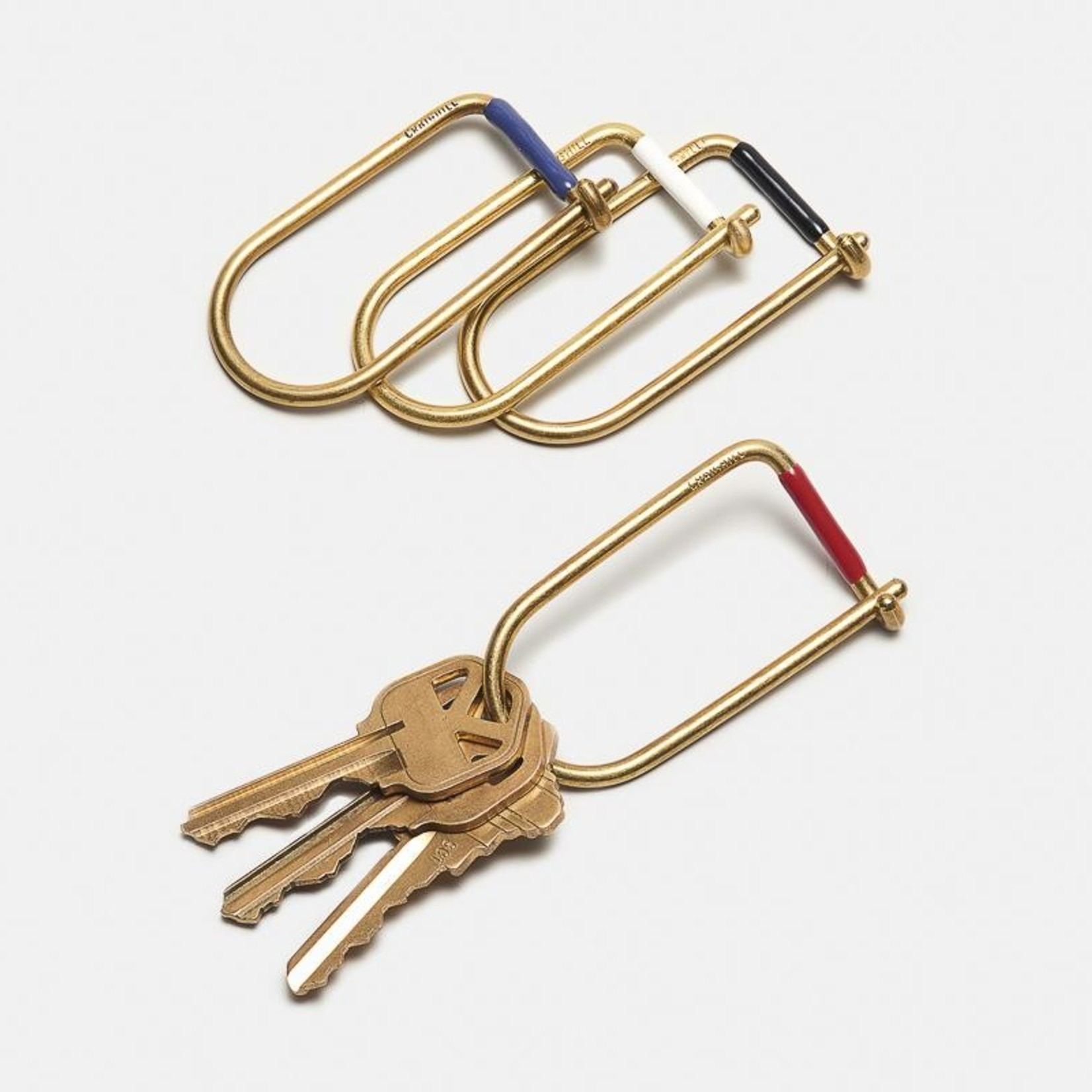Craighill Craighill Keyring Wilson Brass Enameled  Blue