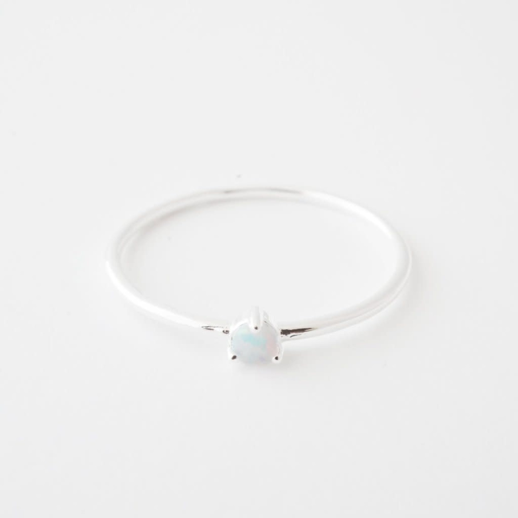 Honeycat Jewelry Honeycat Orb Ring Opal Silver