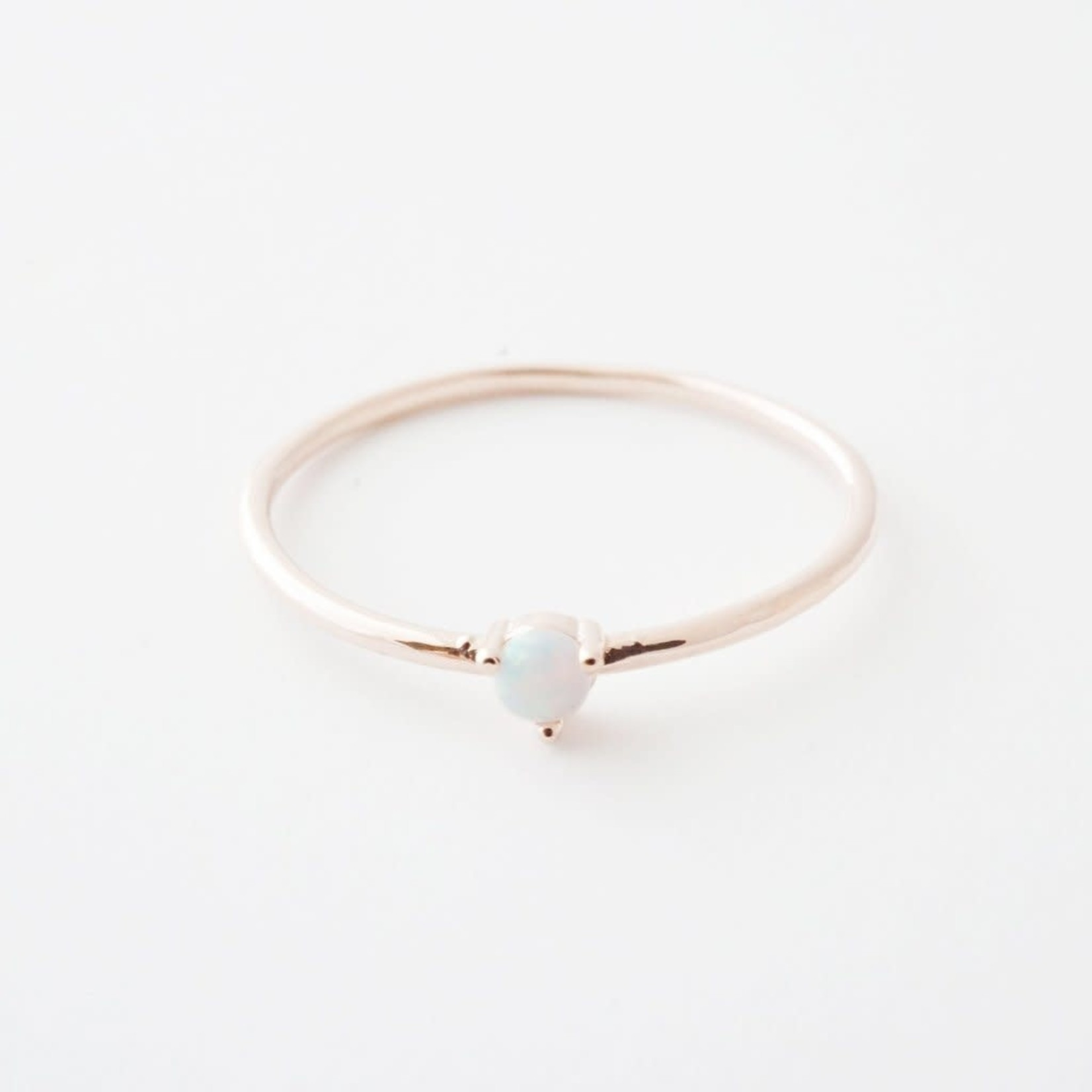 Honeycat Jewelry Honeycat Orb Ring Opal Rose Gold