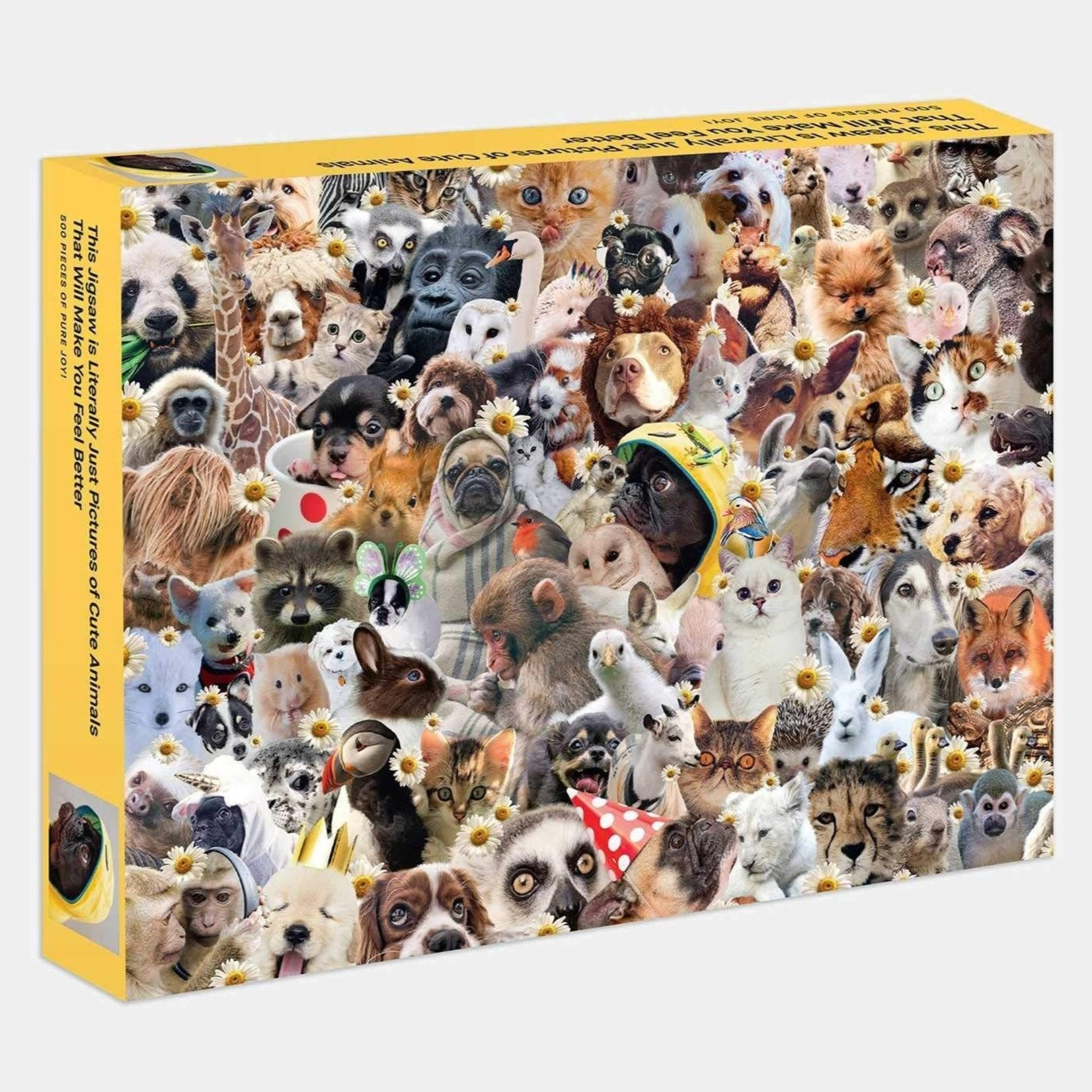 Rizzoli 500 Piece This Jigsaw is Literally Just Pictures of Cute Animals That Will Make You Feel Better Jigsaw Puzzle