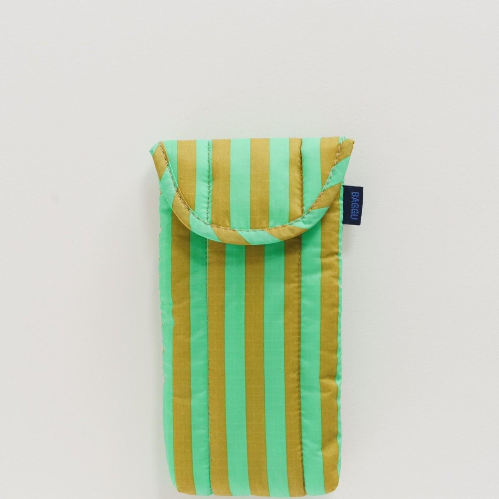 Baggu Baggu Puffy Glasses Sleeve  Lawn Stripe
