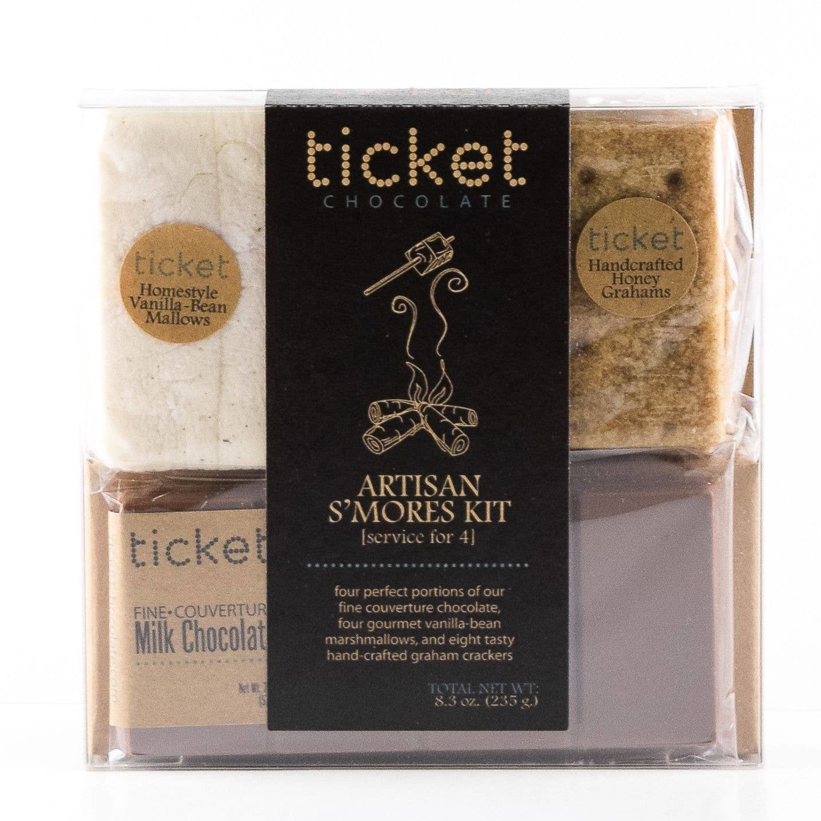 Ticket Chocolate Ticket Chocolate Artisan Smores Kits Service for Four Classic
