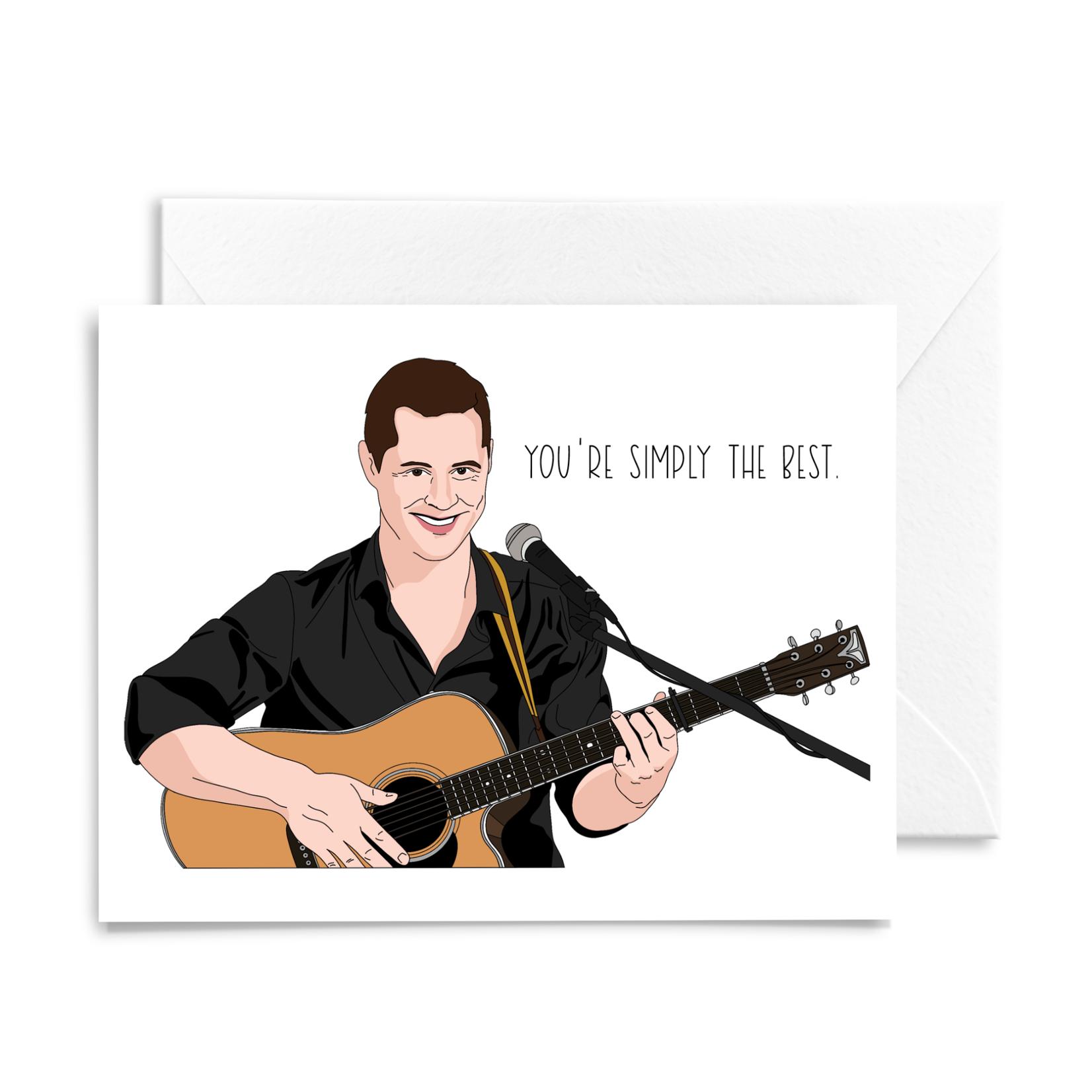 Sammy Gorin Sammy Gorin Card Schitt's Creek Patrick Singing You're Simply the Best