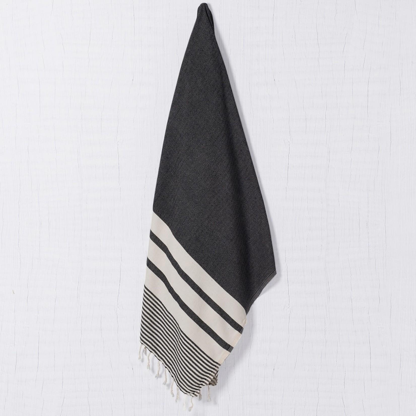 Buldano Buldano Turkish Towel Peshtemal KREMBCOT Black