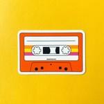 Quick Brown Fox Quick Brown Fox Cassette Tape Sticker