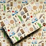 Quick Brown Fox Quick Brown Fox Wrapping Paper NYC