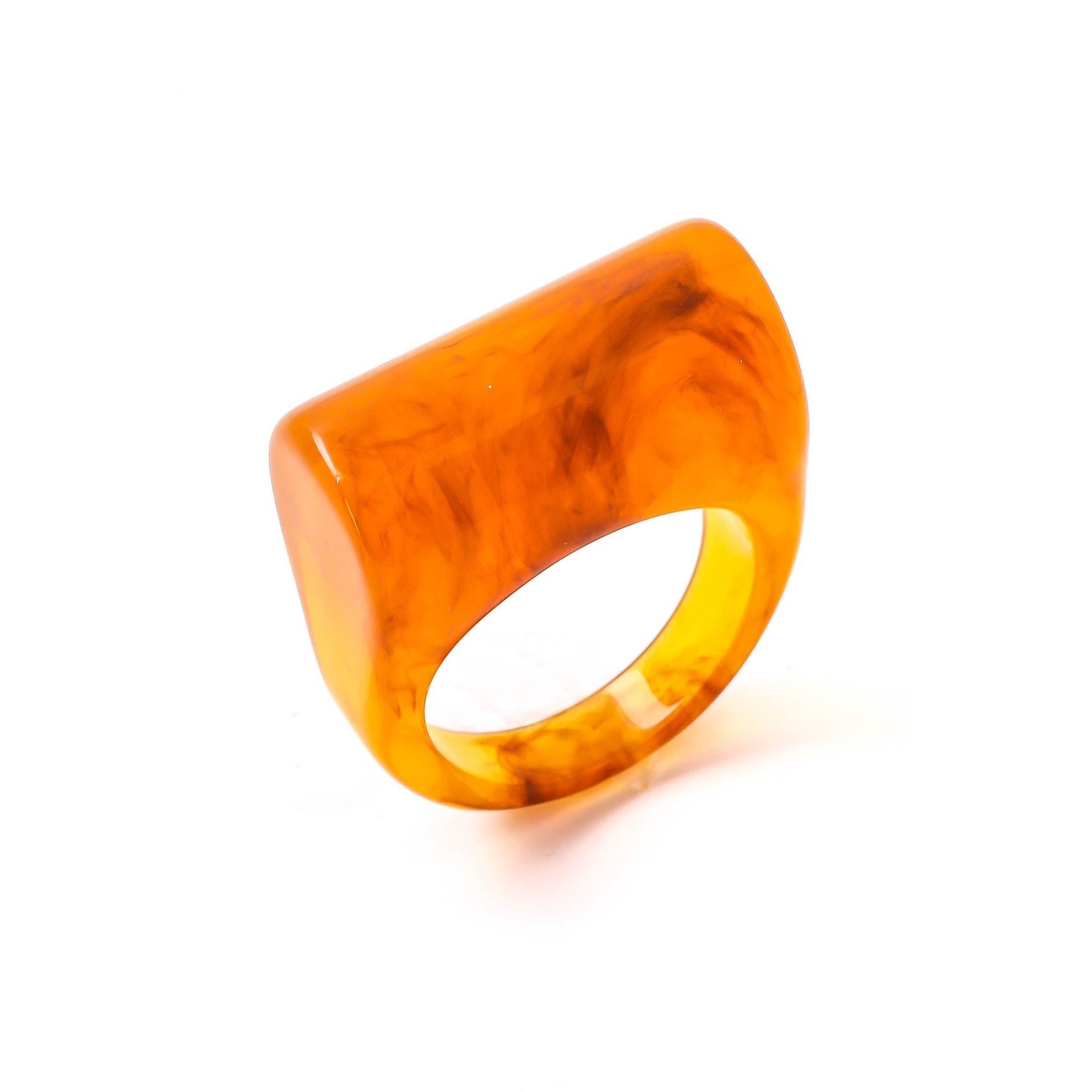 Anarchy Street Anarchy Street Geometric Acrylic Ring Brown