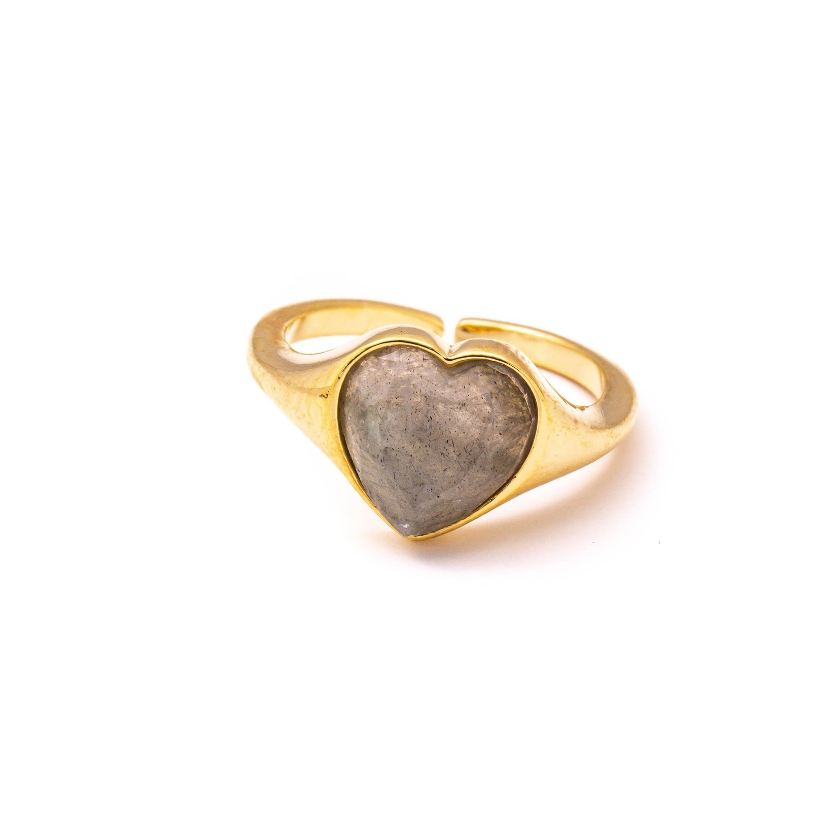 Anarchy Street Anarchy Street Heart Stone Charm Band Ring