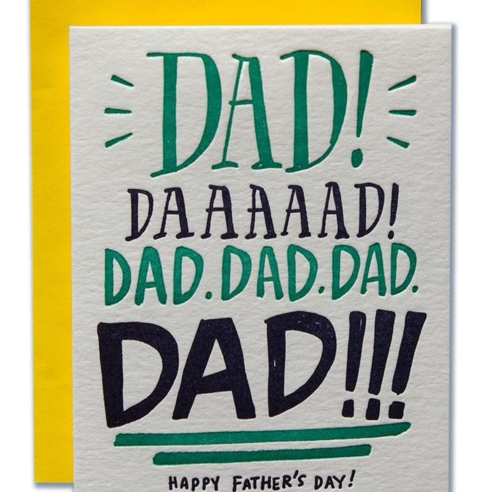 Ladyfingers Letterpress Ladyfingers Dad Yelling Happy Father's Day