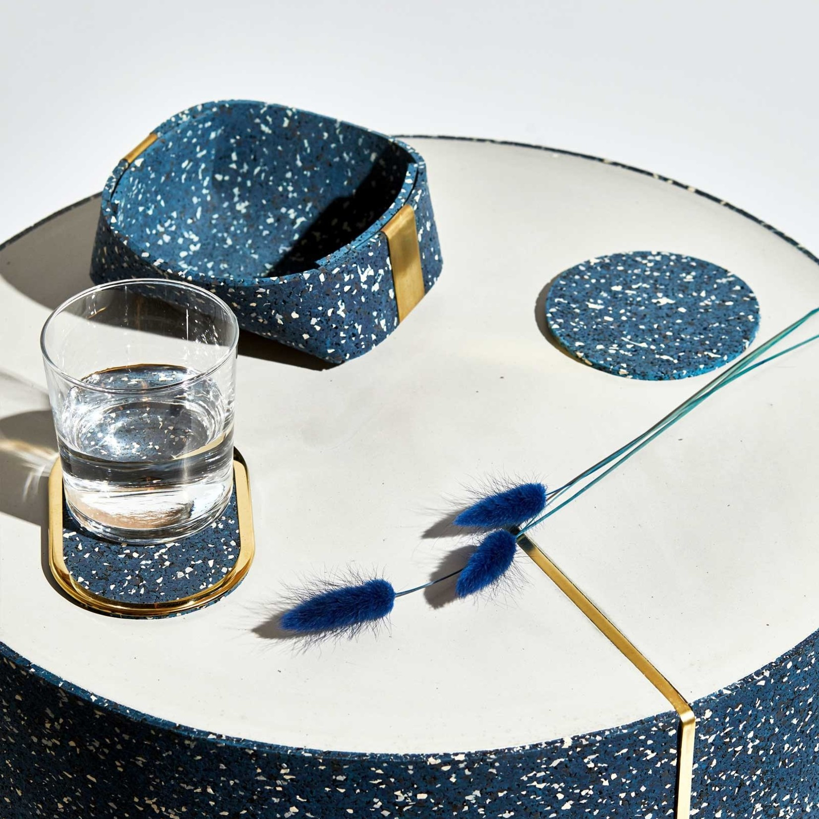 Slash Objects Slash Objects Round Rubber Coaster Set Royal