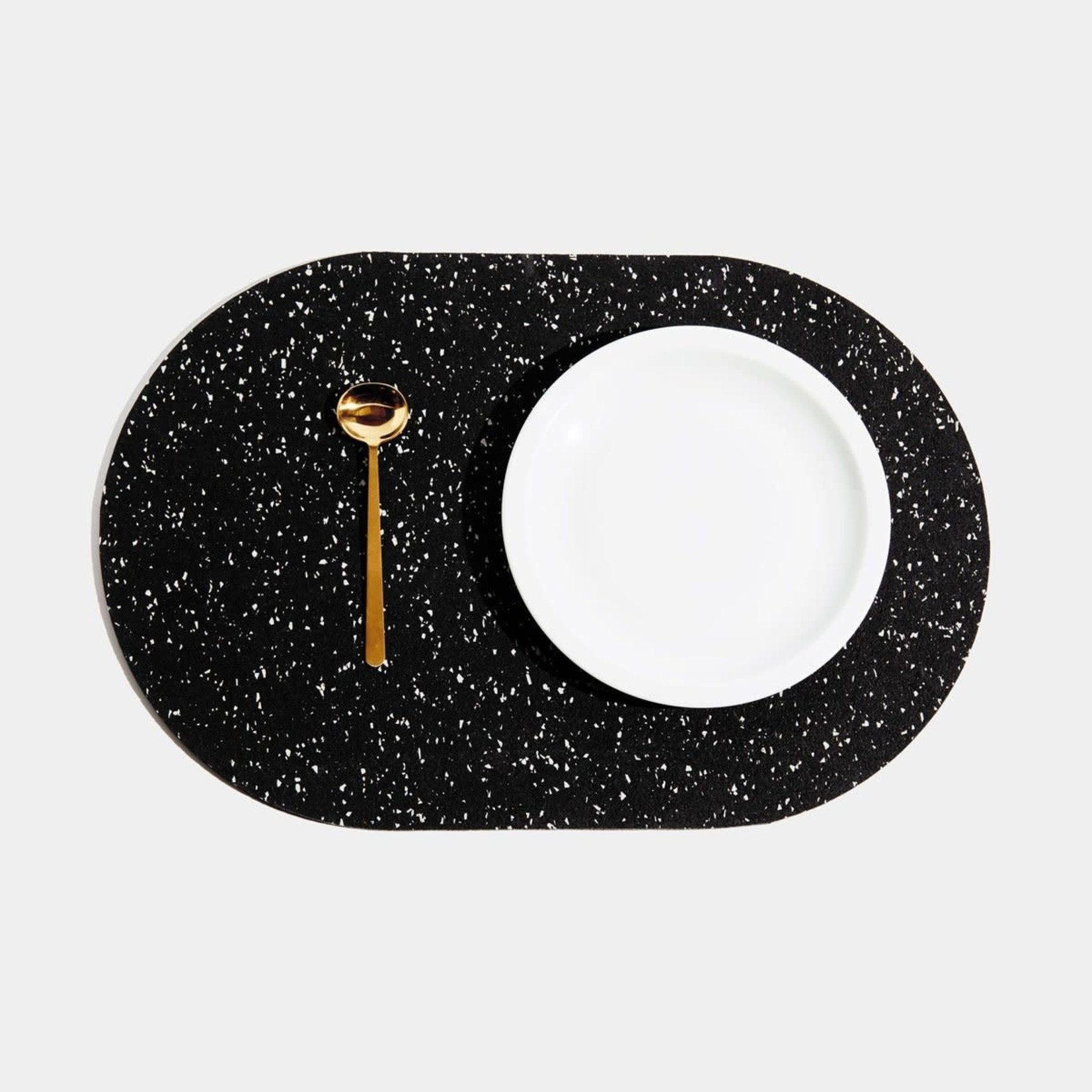 Slash Objects Slashed Objects Capsule Placemat Speckled Black