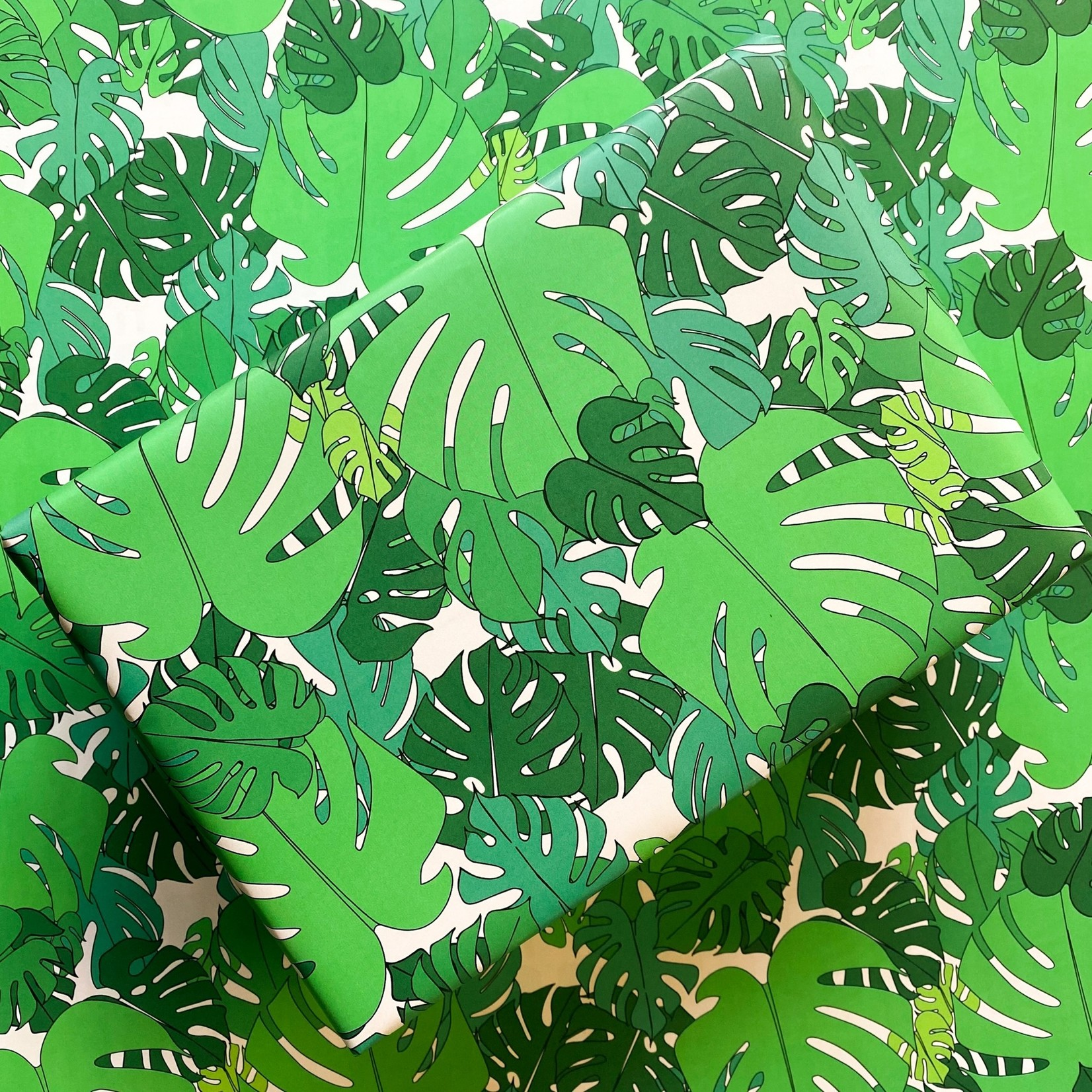 Quick Brown Fox Quick Brown Fox Wrapping Paper MONSTERA