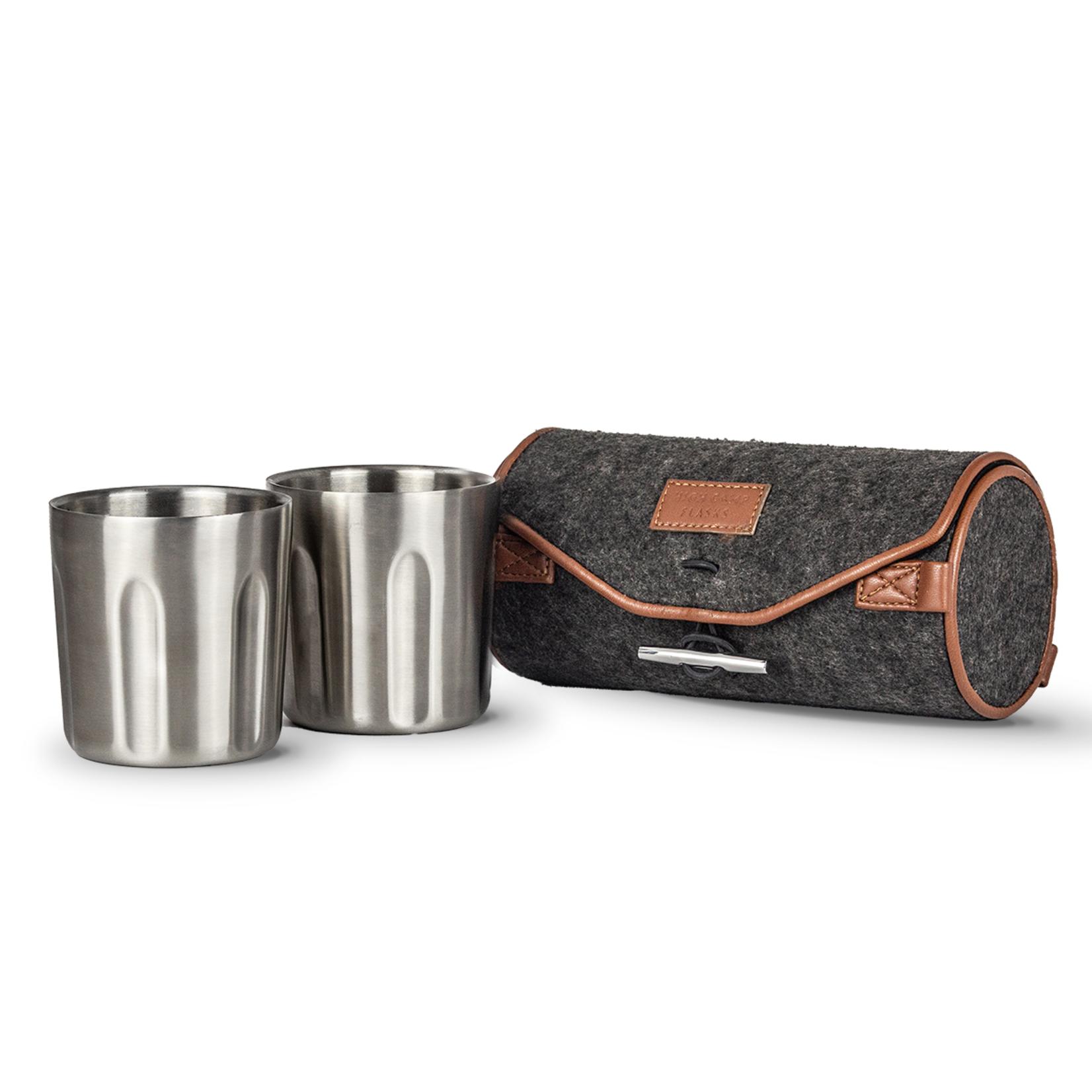 High Camp Flasks High Camp Flasks Tumbler 2-Pack + Soft Wool Felt Carrying Case - Stainless Steel