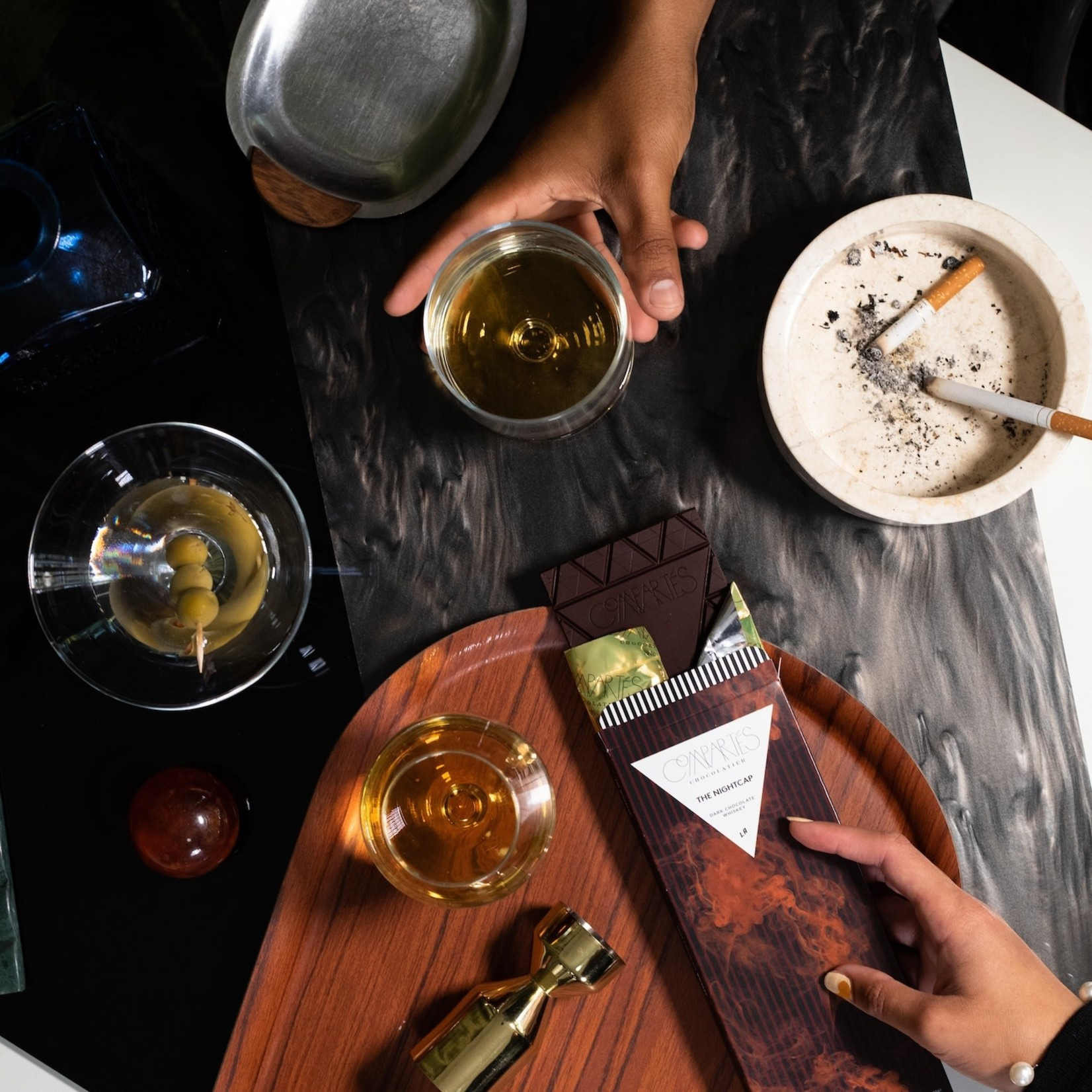 Compartes Chocolate Compartes Chocolate Nightcap Whisky Dark Chocolate Bar