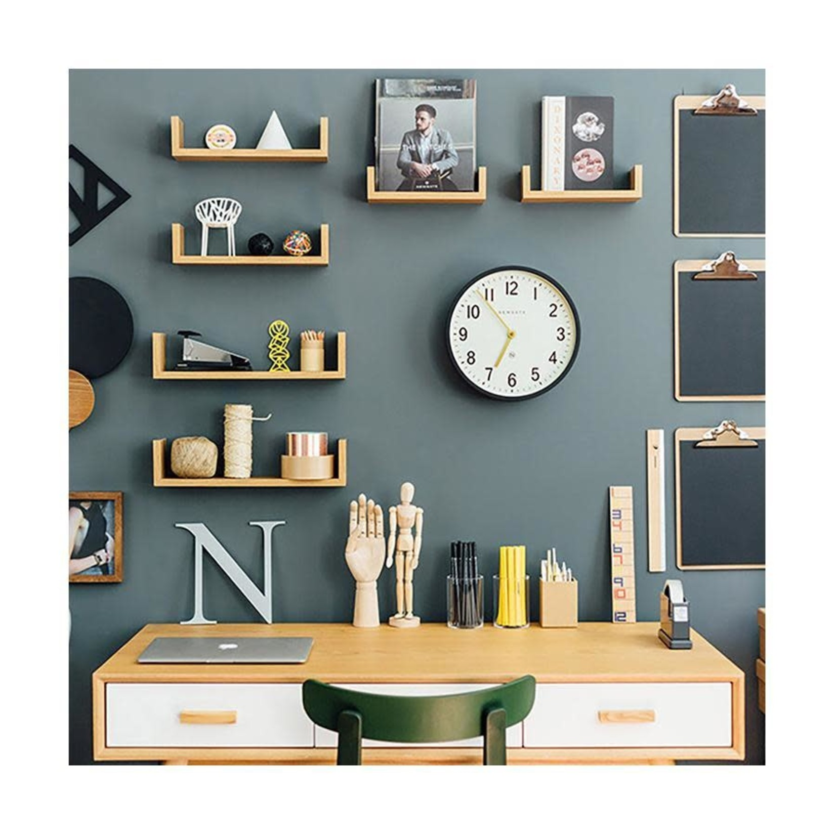 Newgate Newgate Master Edwards Clock  Grey
