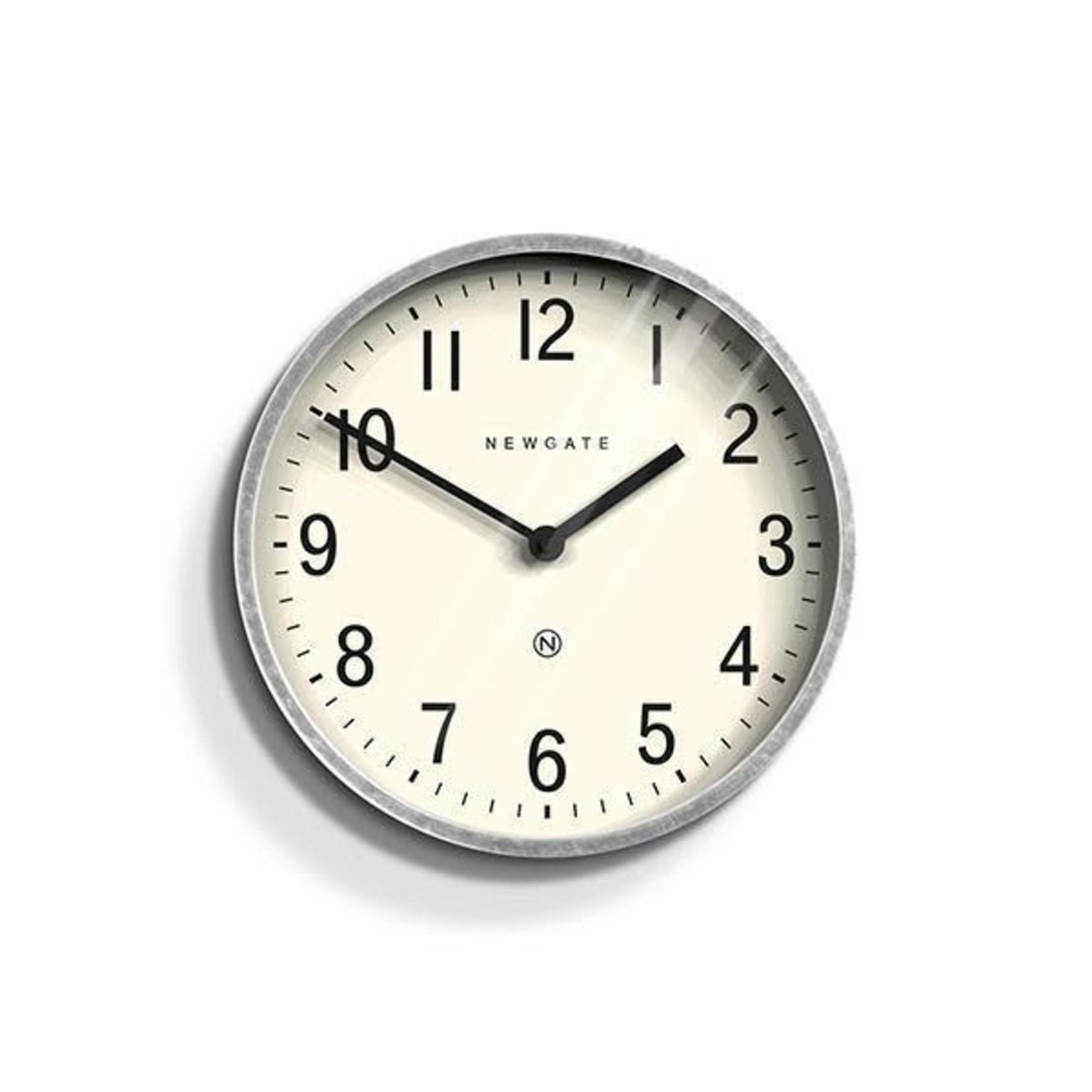 Newgate Newgate Master Edwards Clock  Galvanized Metal