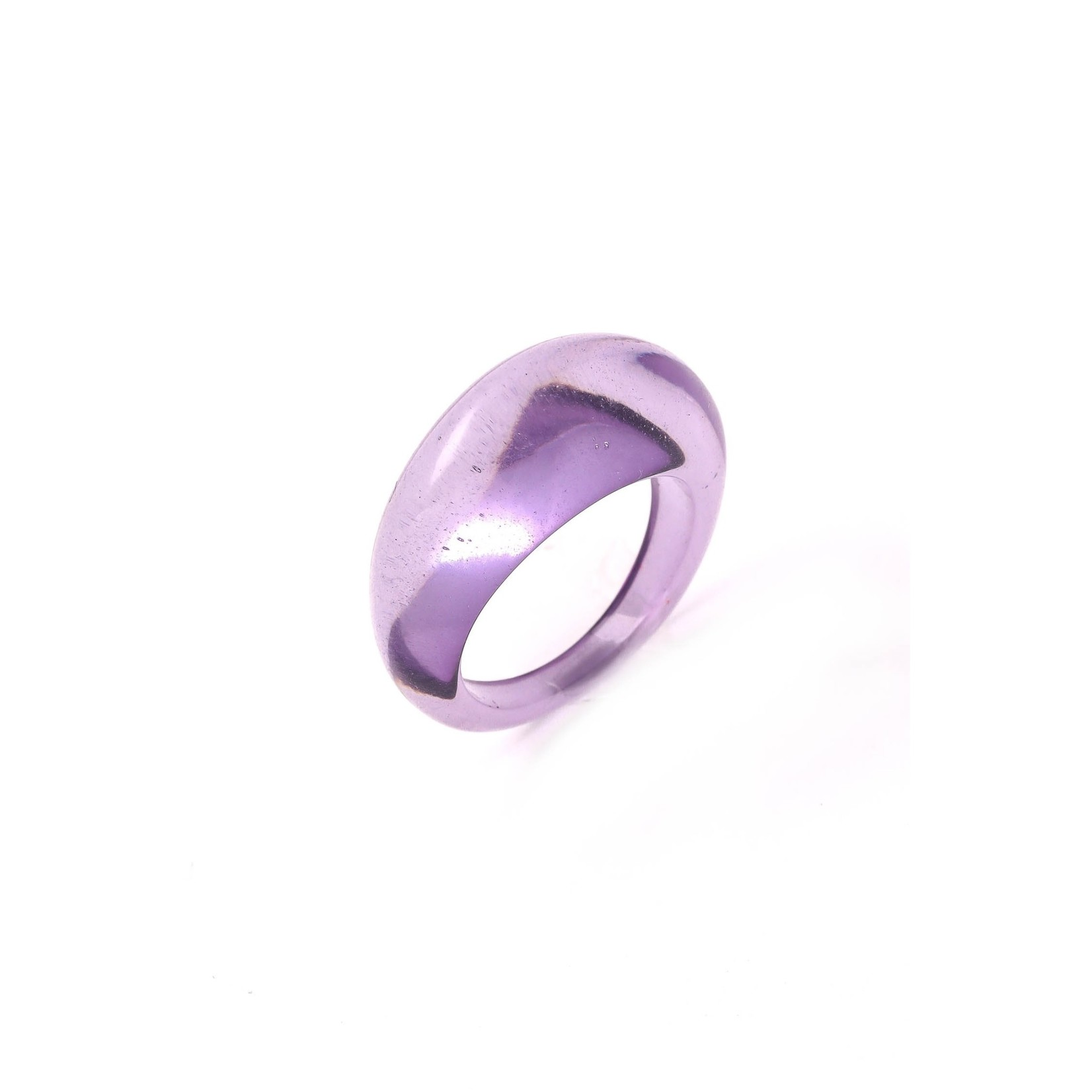 Anarchy Street Anarchy Street Round ThIck Resin Ring Purple