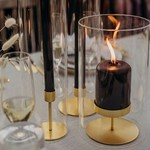 Be Home Be Home Gold Pillar Candle Holder Short