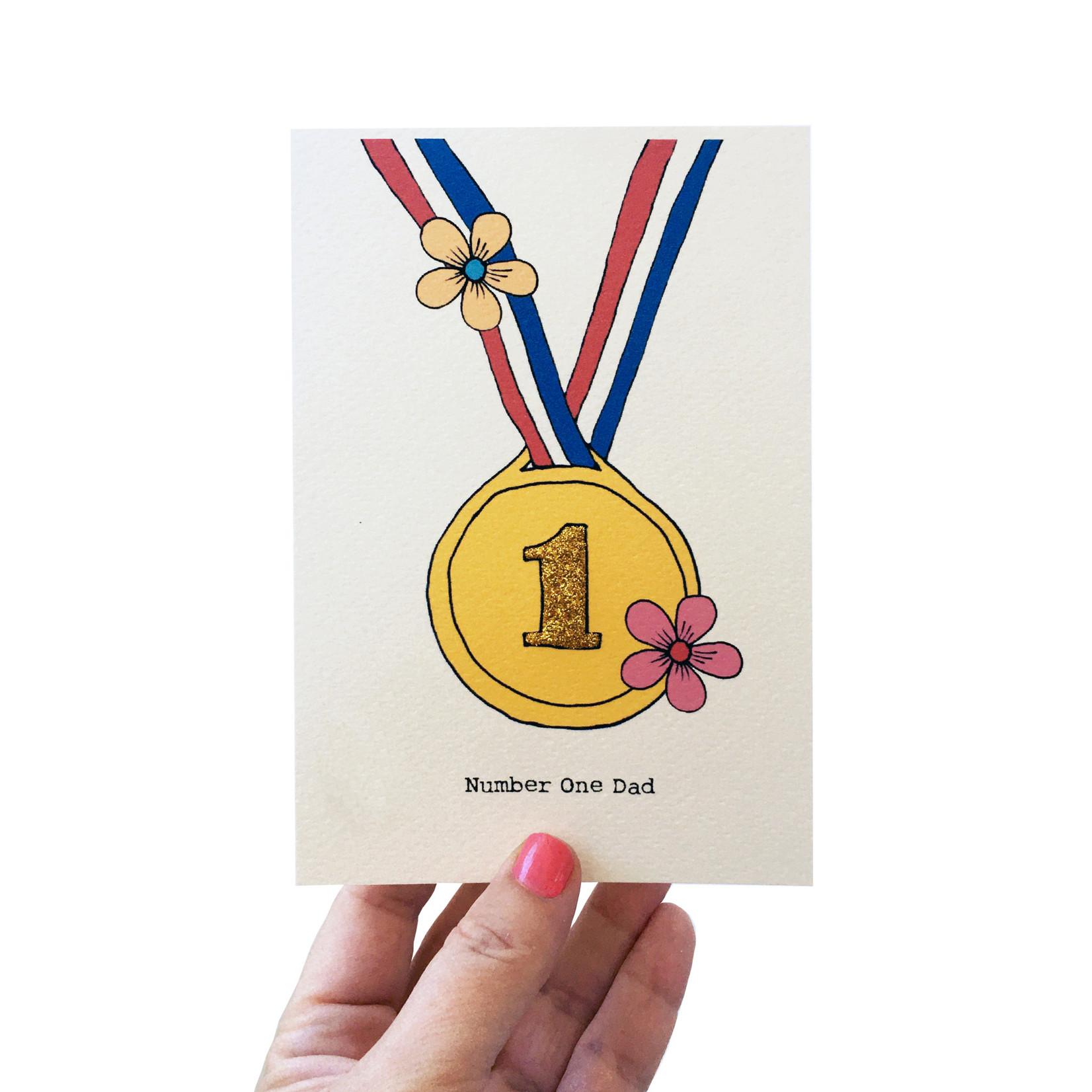 Rosie Wonders Number One Dad Gold Medal