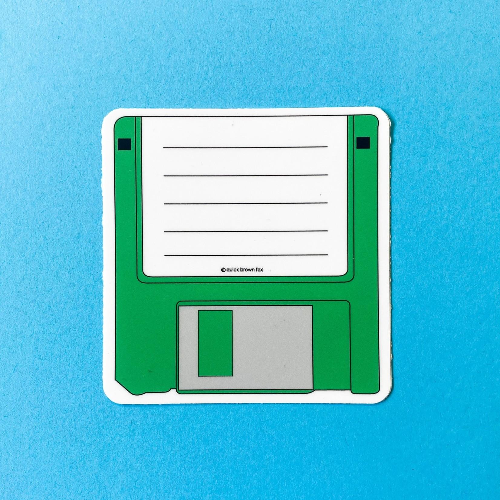 Quick Brown Fox Quick Brown Fox Floppy Disc Sticker