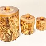 """Natural OliveWood Natural OliveWood Spice Jars 5"""""""