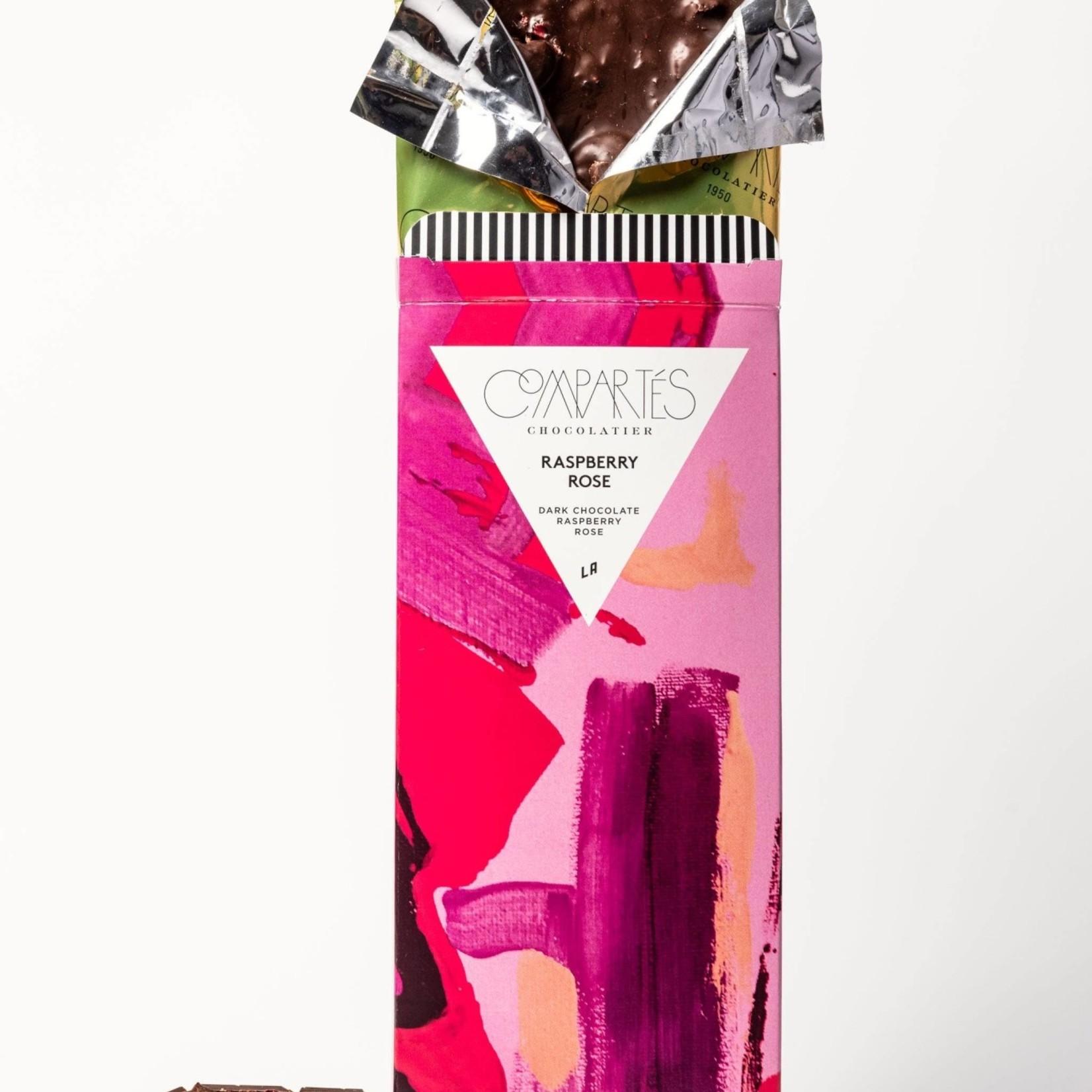 Compartes Chocolate Compartes Chocolate Raspberry Rose Gourmet Dark Chocolate Bar