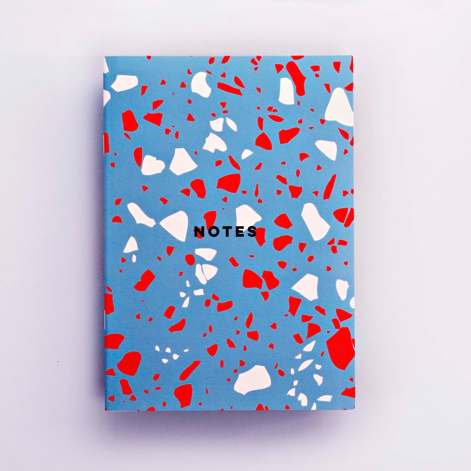 The Completist The Completist Notebook Lined Blue Terrazzo