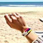 "Olivia Le Olivia Le Nirvana Pearl Heishi Bracelet Yellow 6.5"""
