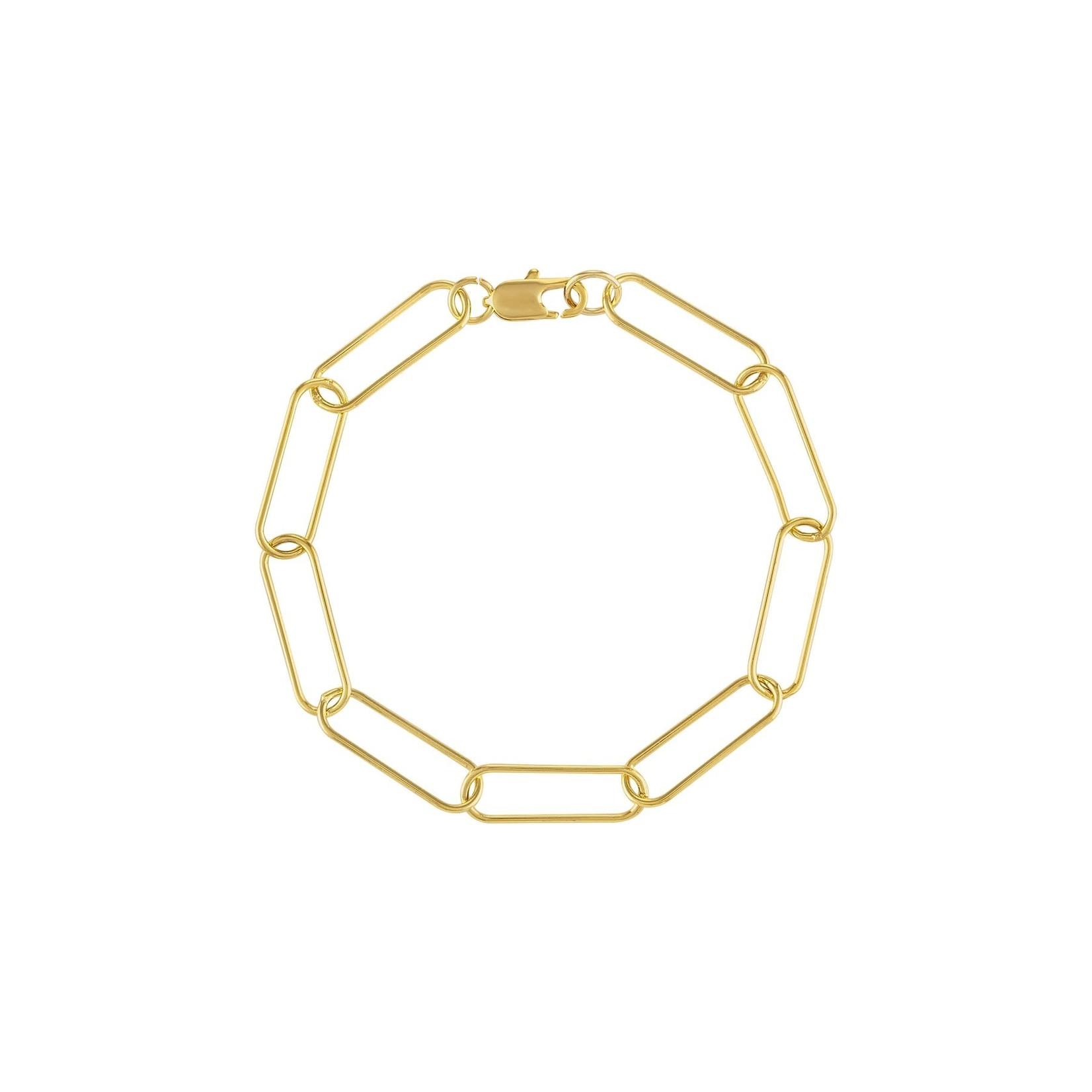 Olivia Le Olivia Le Cara Paper Clip Bracelet