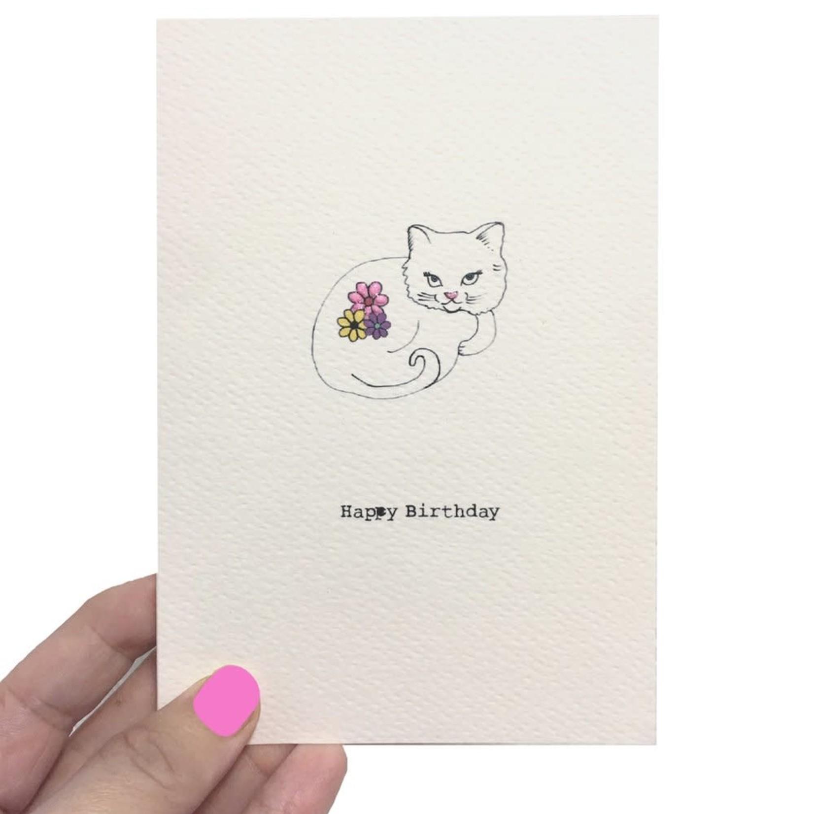 Rosie Wonders Birthday White Cat