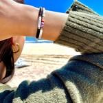 "Olivia Le Olivia Le Black Seychelles Bead Bracelet 6.5"""