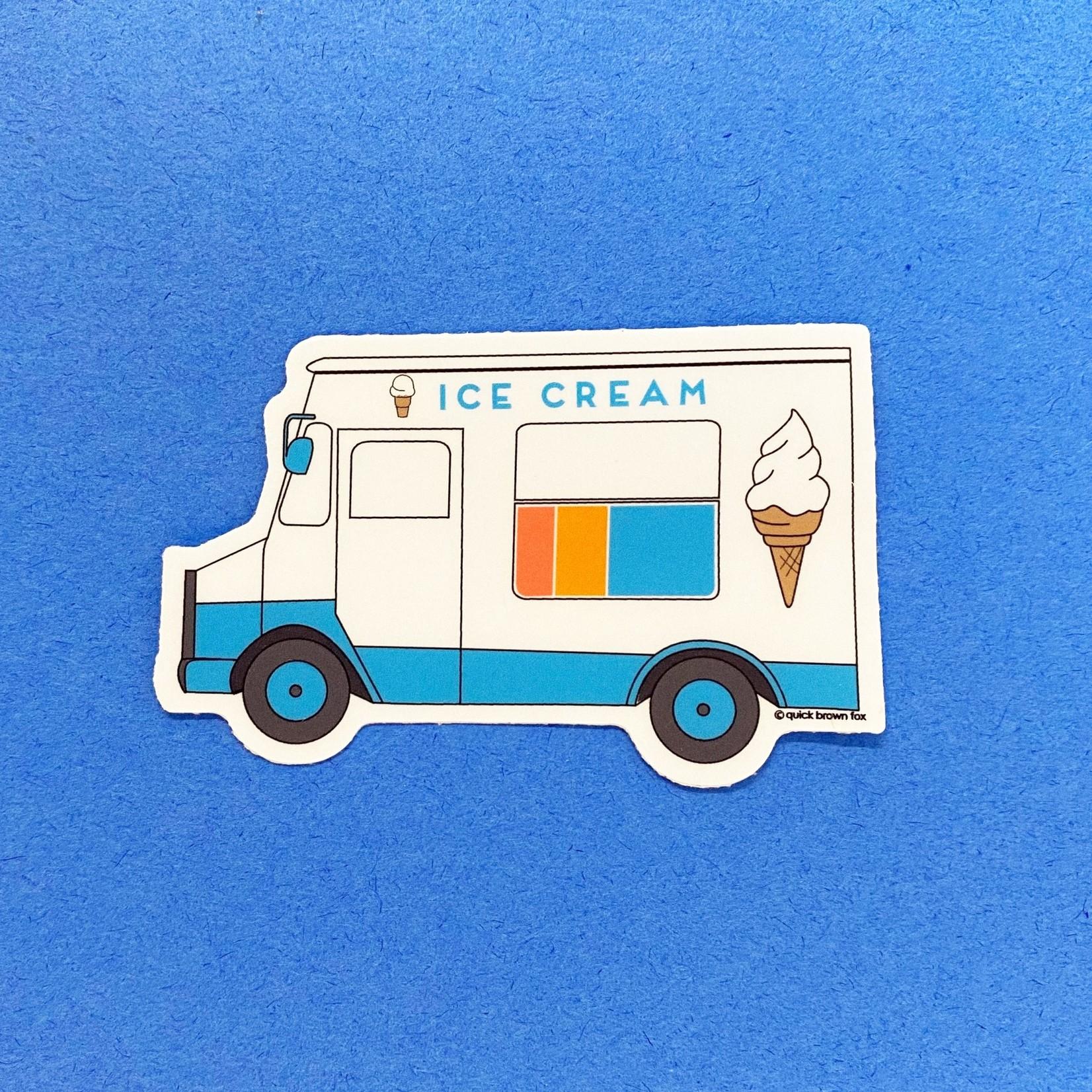 Quick Brown Fox Quick Brown Fox Ice Cream Truck Sticker