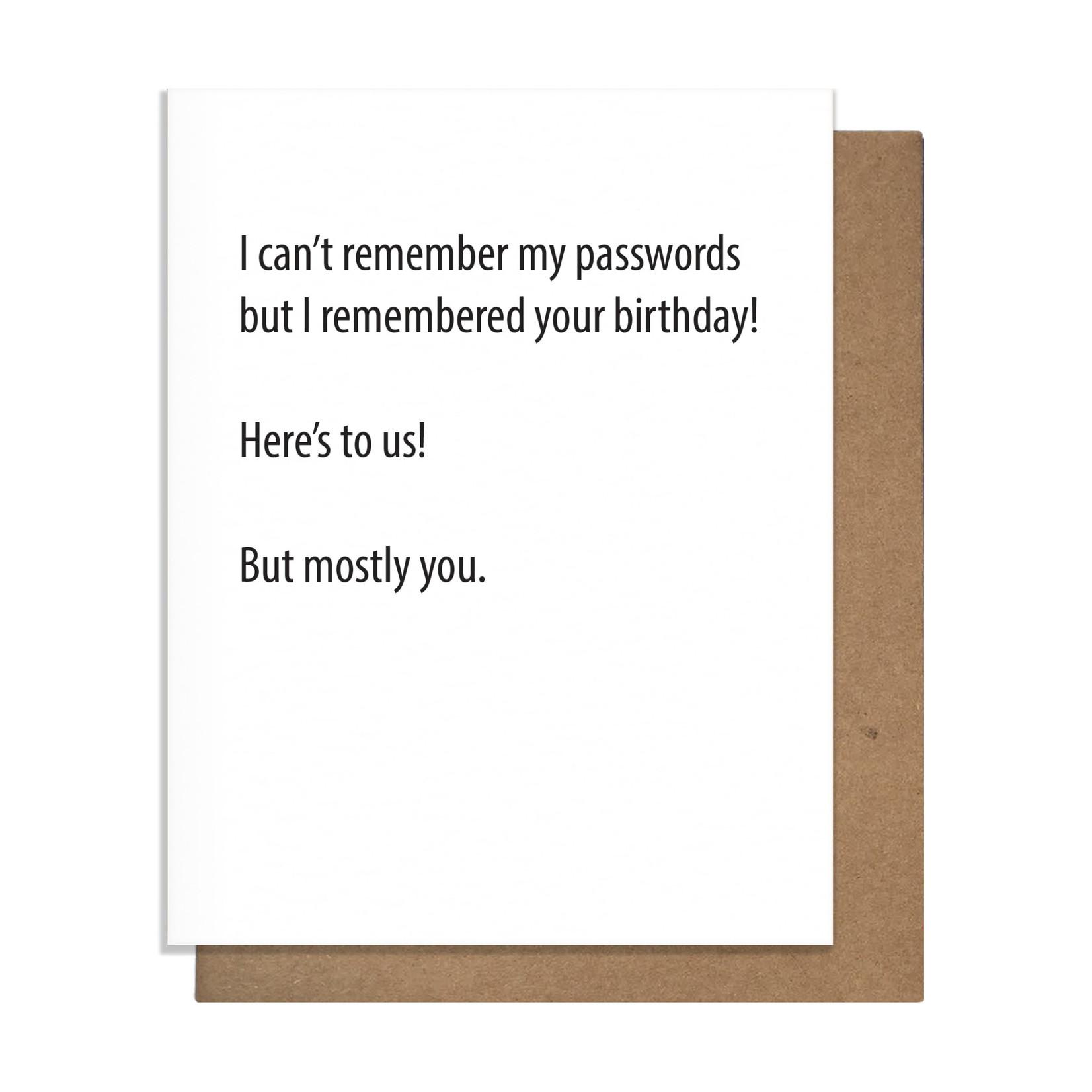 Pretty Alright Passwords