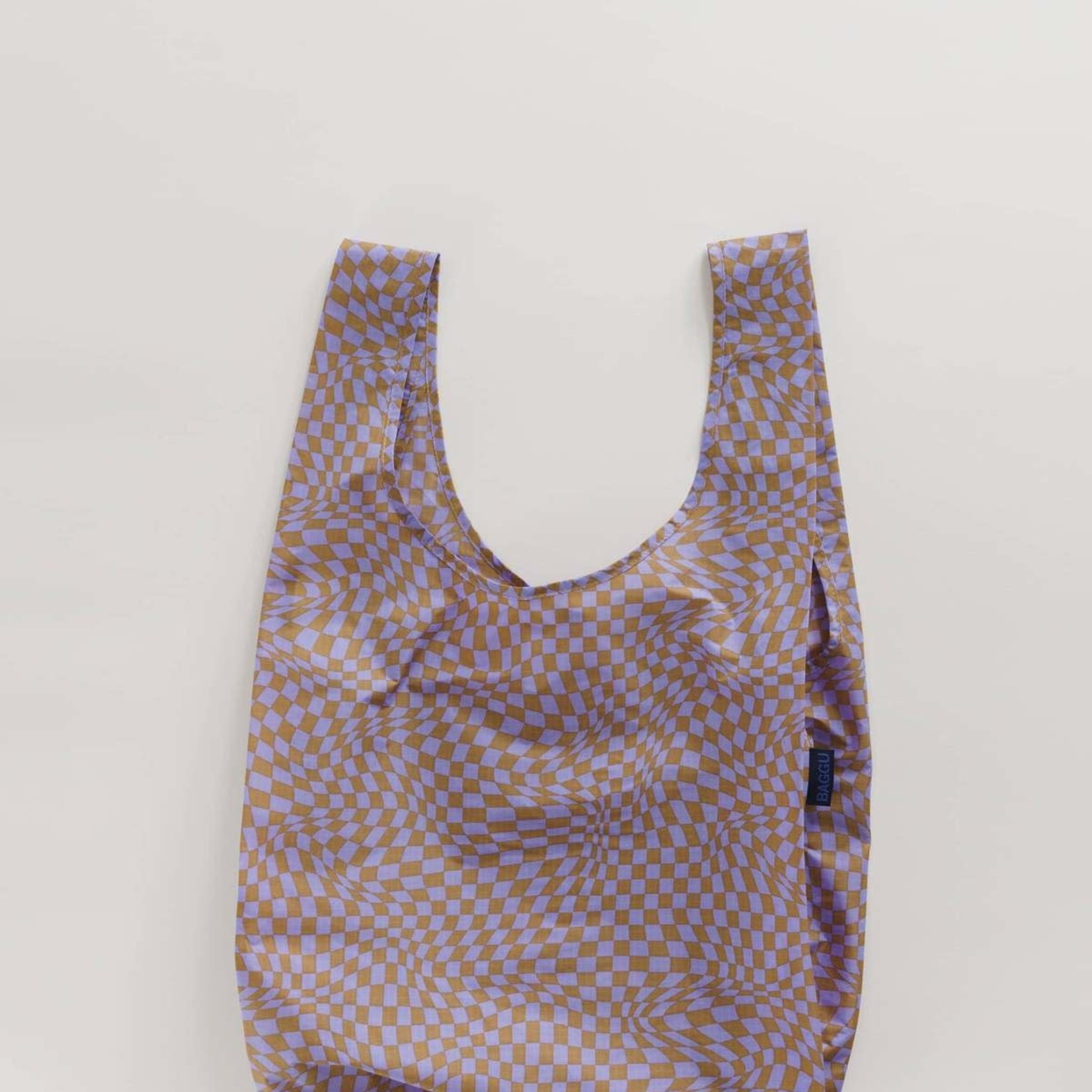 Baggu Baggu Reusable Bag Standard Lavender Trippy Checker