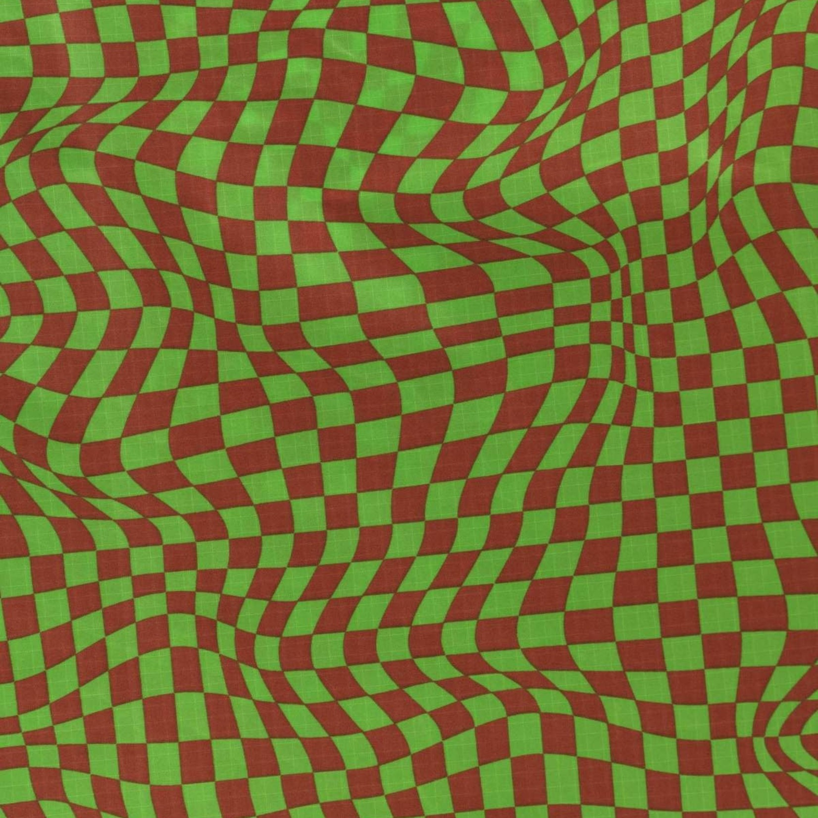Baggu Baggu Reusable Bag Standard Green Trippy Checker