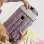 "Baggu Baggu Puffy Laptop Sleeve Lavender Trippy Checker 13"""