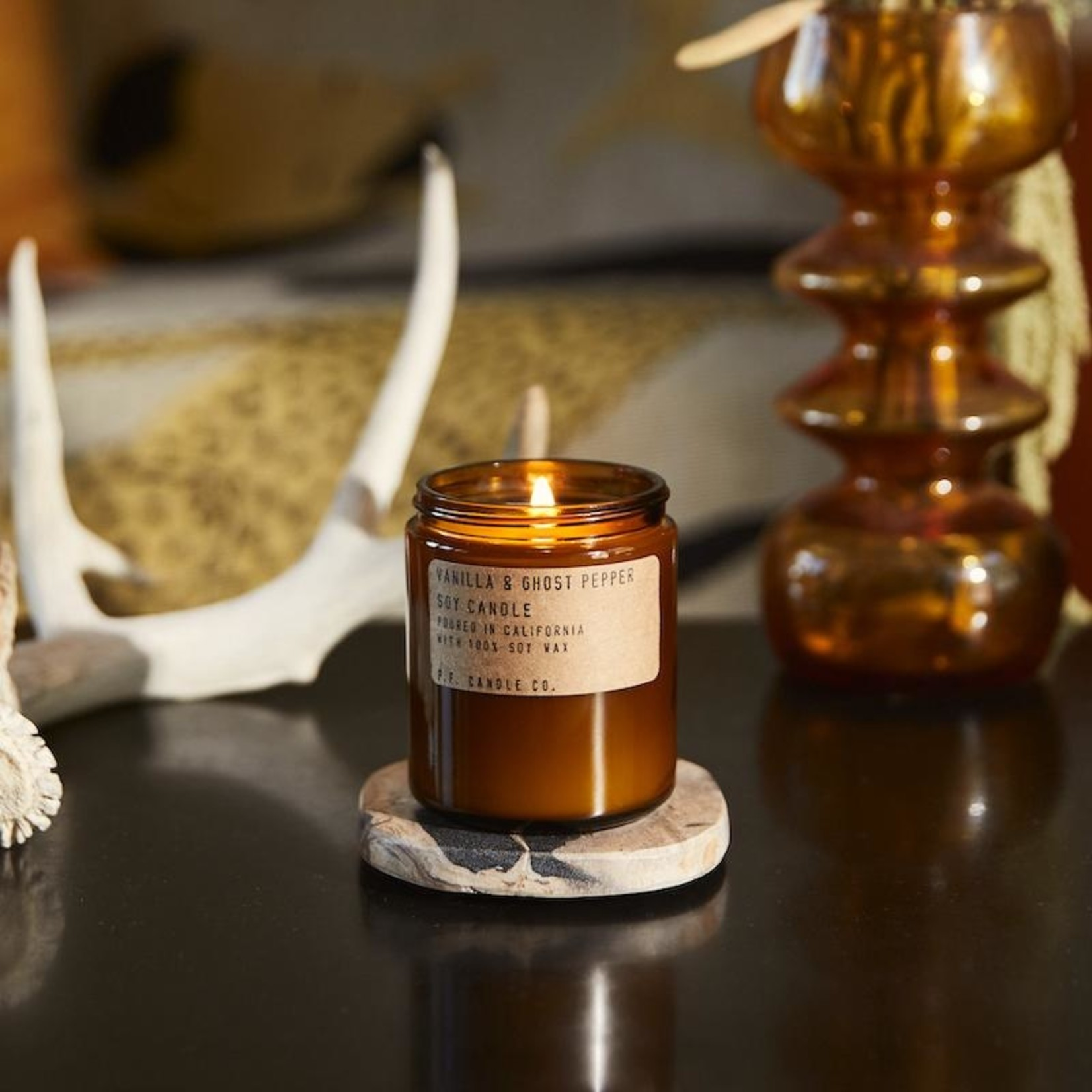 P.F. Candle Co. P.F. Soy Candle 7.2oz Vanilla & Ghost Pepper