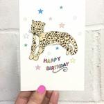 Rosie Wonders Stars Birthday Reclining Leopard