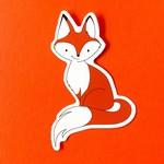 Quick Brown Fox Quick Brown Fox Foxy Sticker