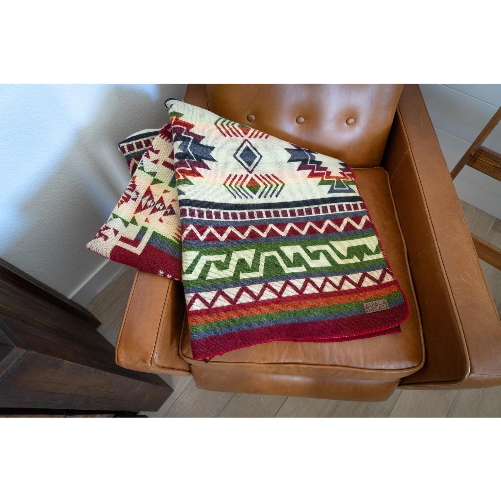 Alpaca Threadz Alpaca Threadz Andean Alpaca Wool Blanket - Retro