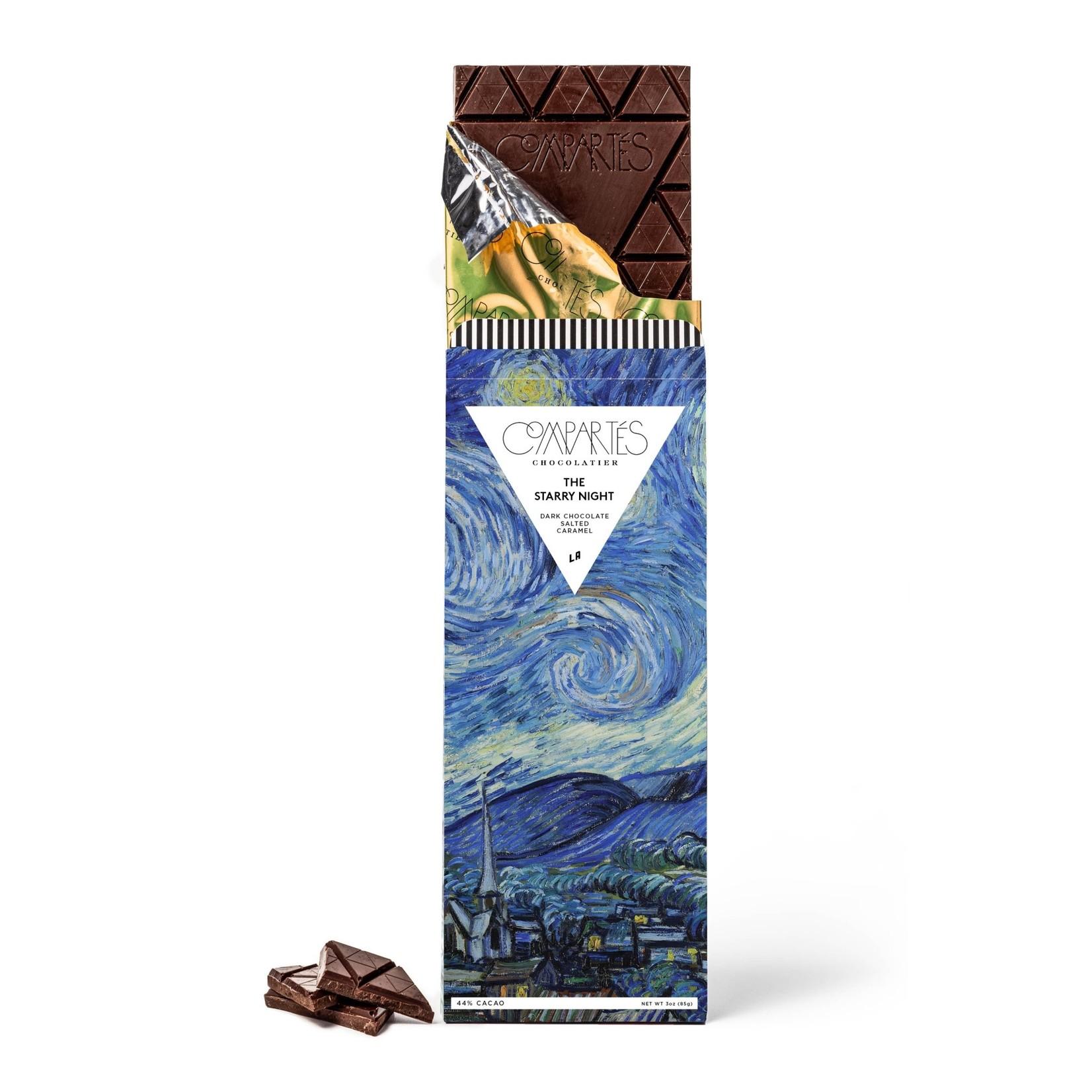 Compartes Chocolate Compartes Starry Night Van Gogh Chocolate Bar -Salted Caramel Dark