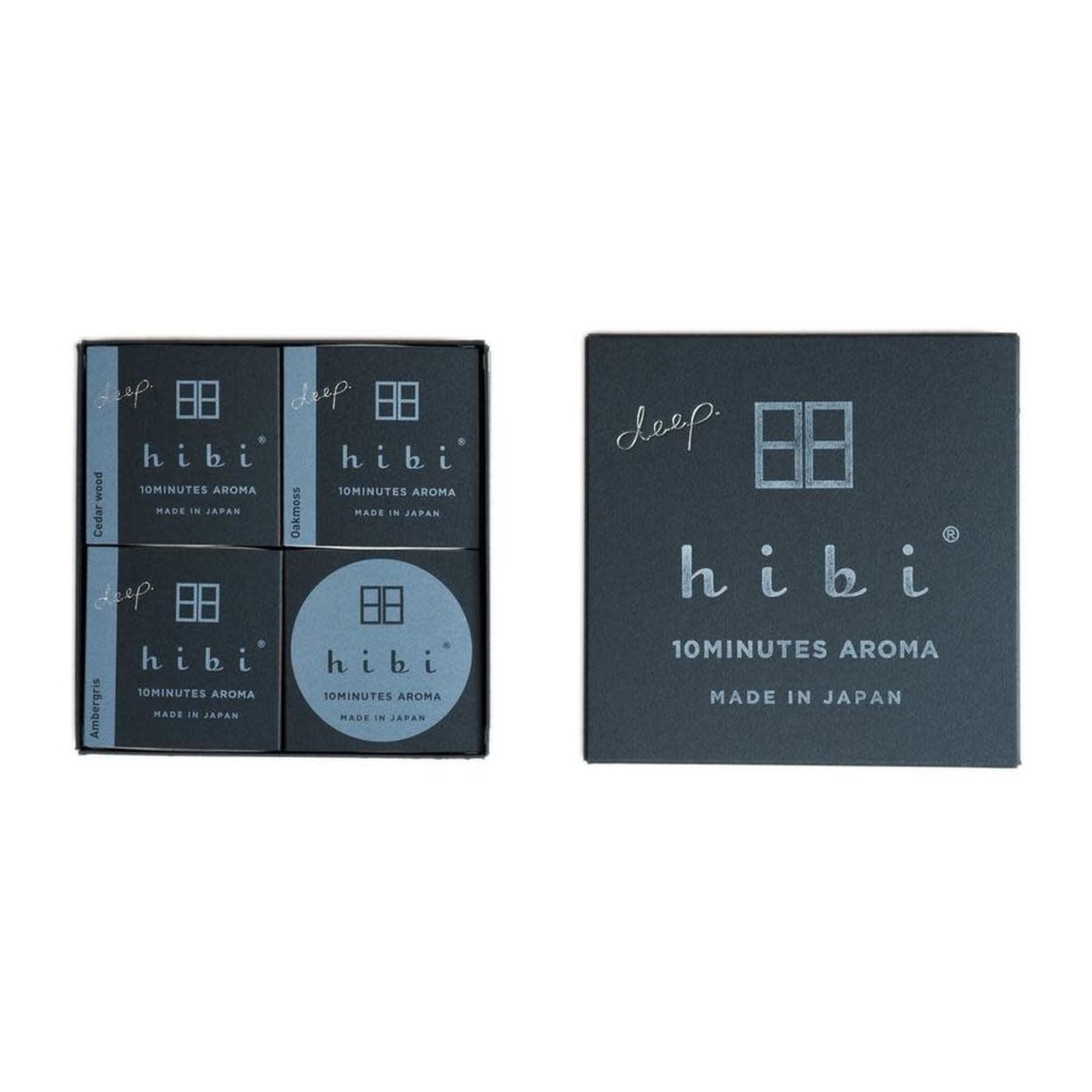 Hibi Hibi Gift Box 3 Assorted Deep Fragrances Cedar Wood, Ambergris, & Oakmoss