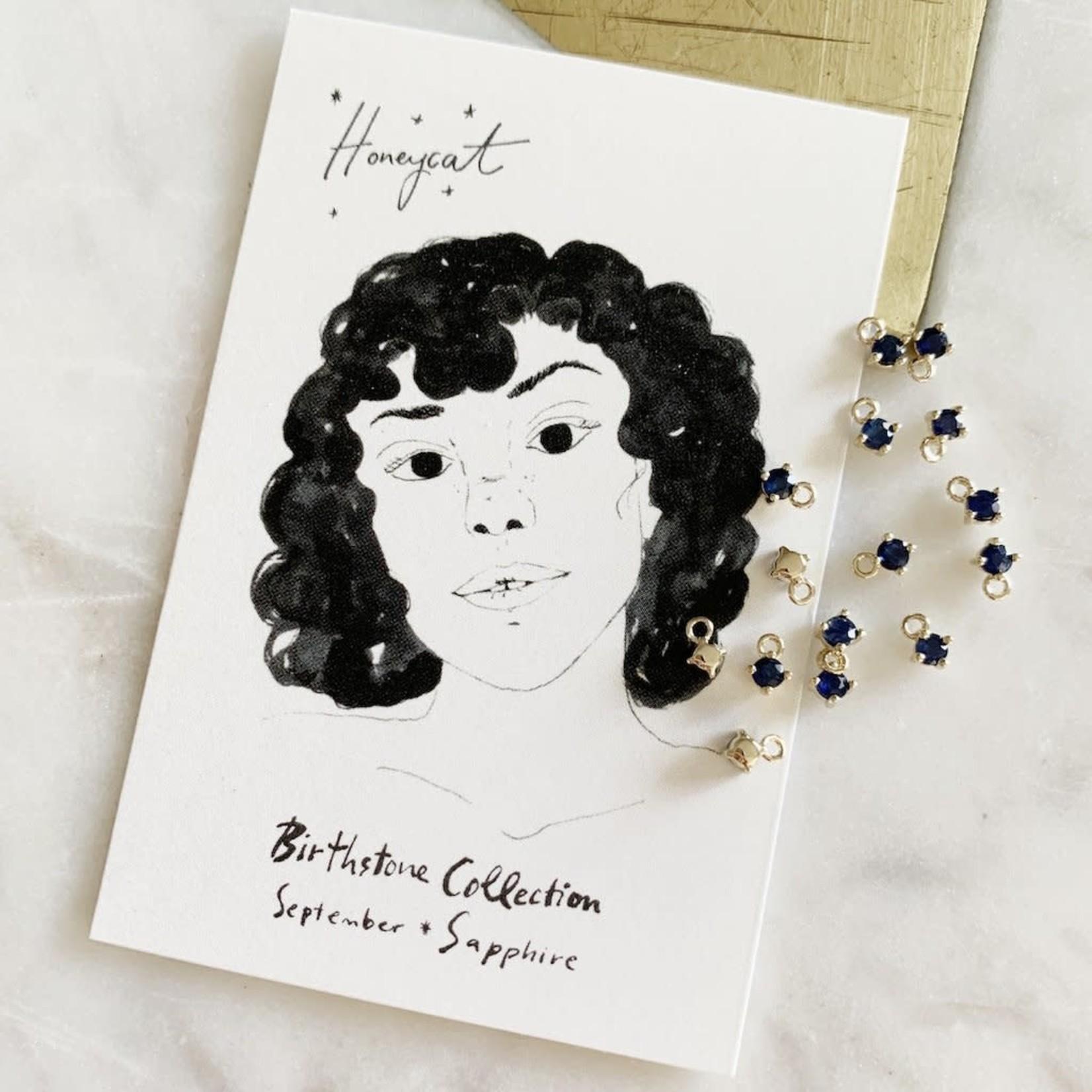 Honeycat Jewelry Honeycat Petite Birthstone Charm - Sapphire September