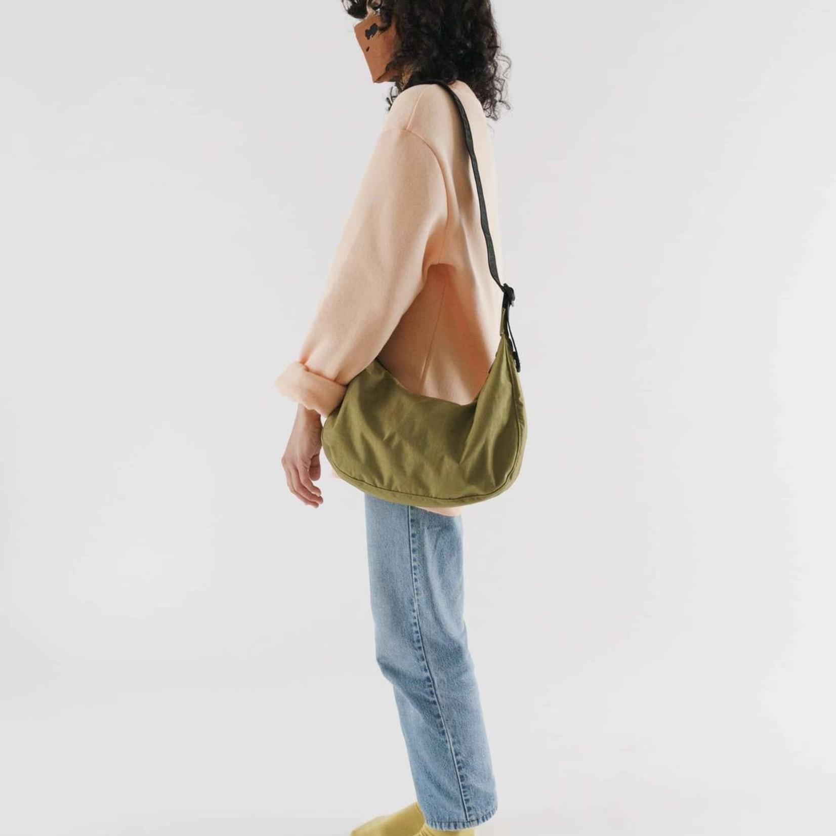 Baggu Baggu Medium Nylon Crescent Bag Moss