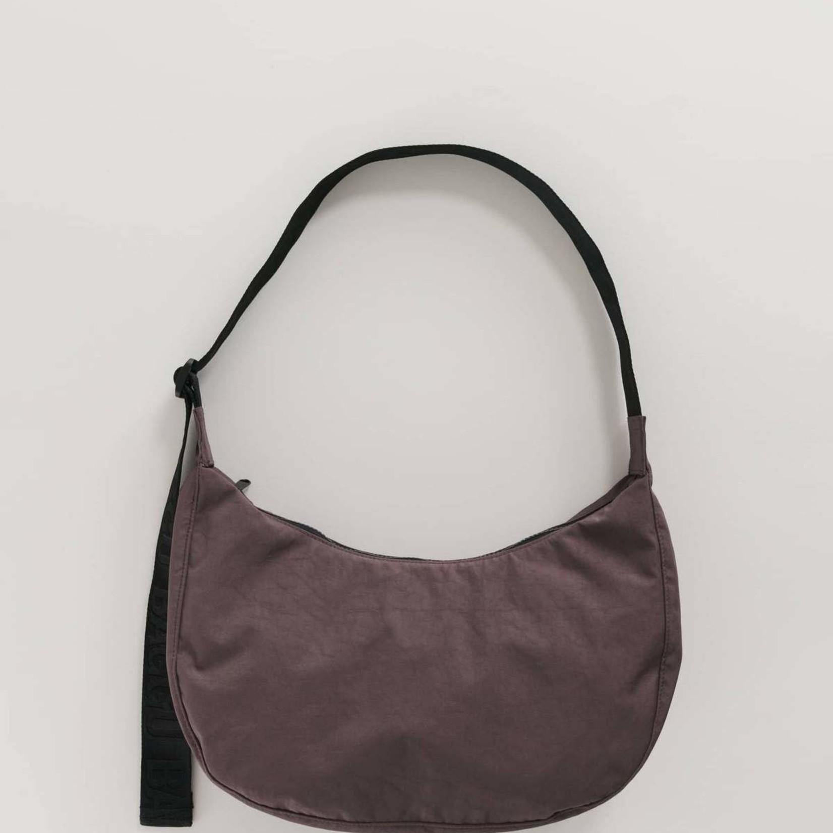 Baggu Baggu Medium Nylon Crescent Bag Peppercorn