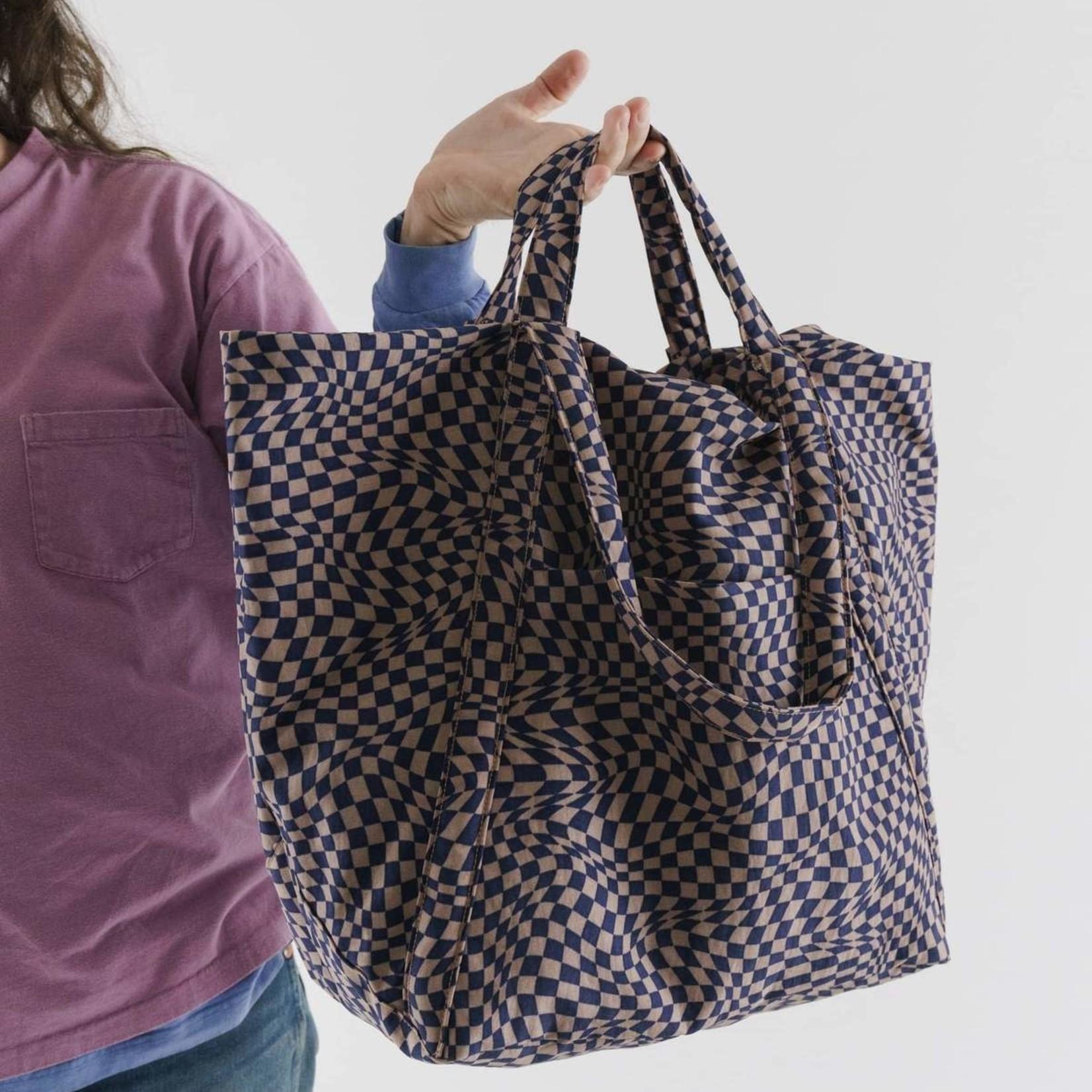 Baggu Baggu Travel Cloud Bag Indigo Trippy Checker