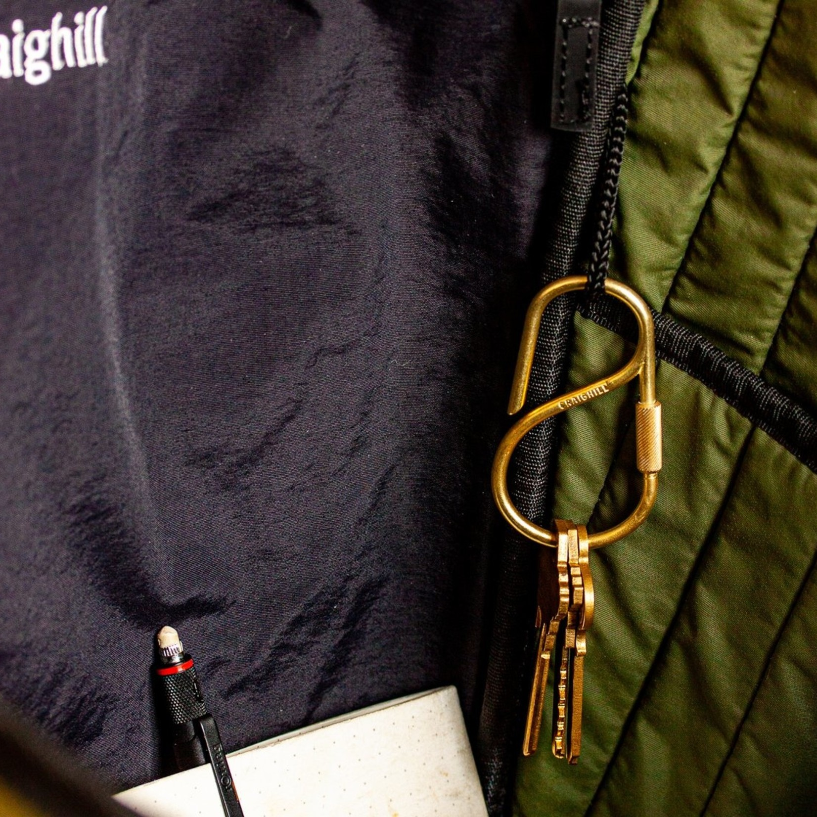 Craighill Craighill Offset Keyring Brass